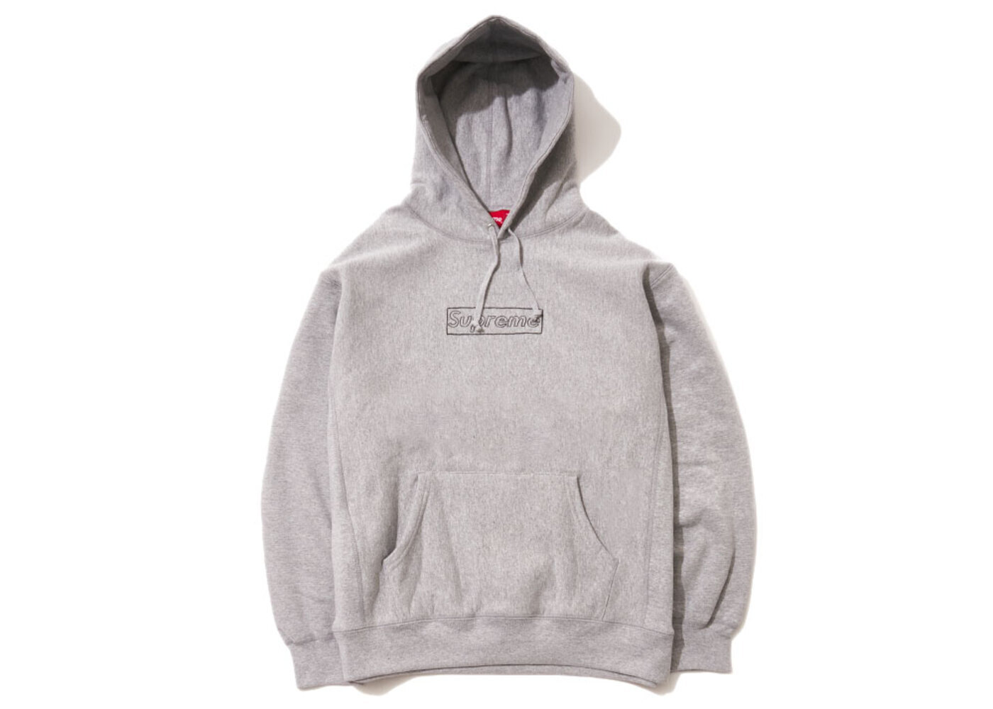 Supreme KAWS Chalk Logo Hooded Sweatshirt Heather Greyの写真