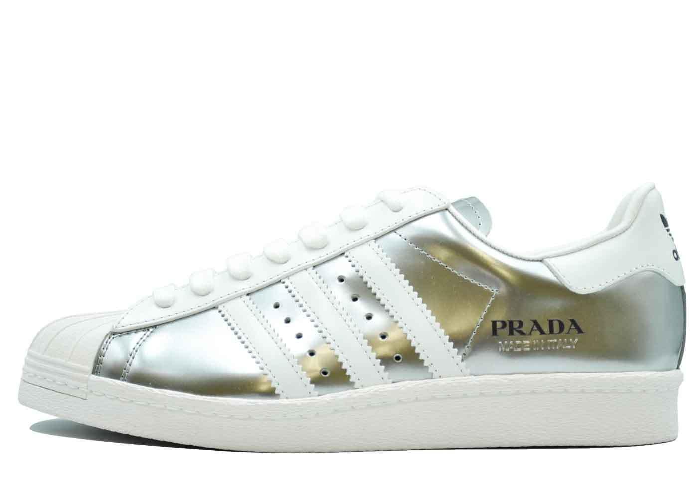 Prada × Adidas Superstar Silver Metallicの写真