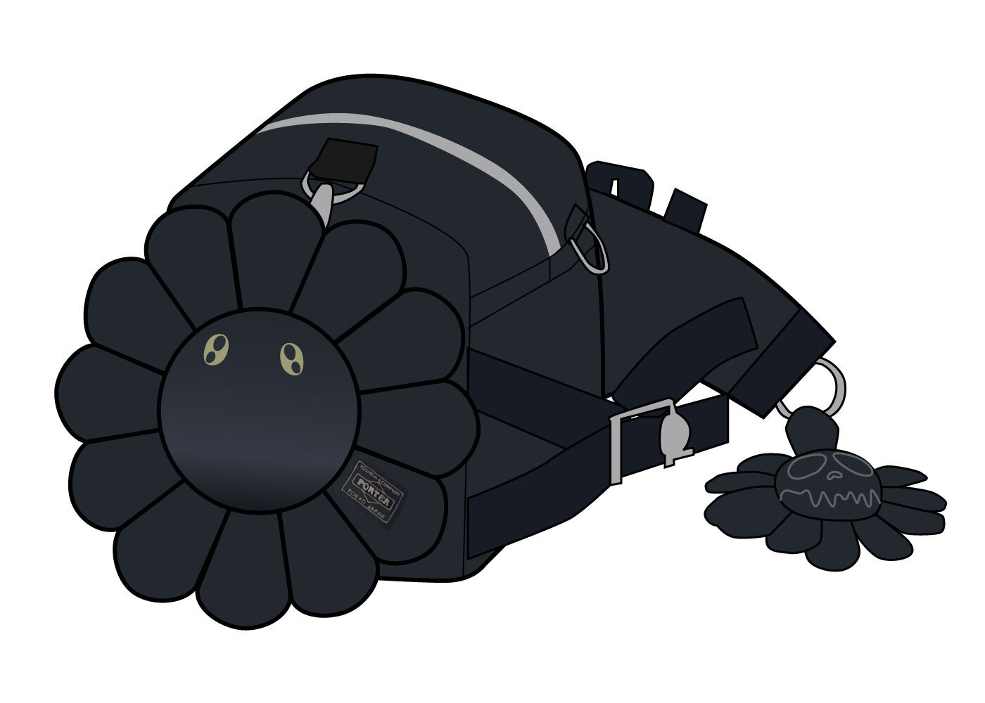 Porter × Kaikai kiki Fanny Pack Blackの写真