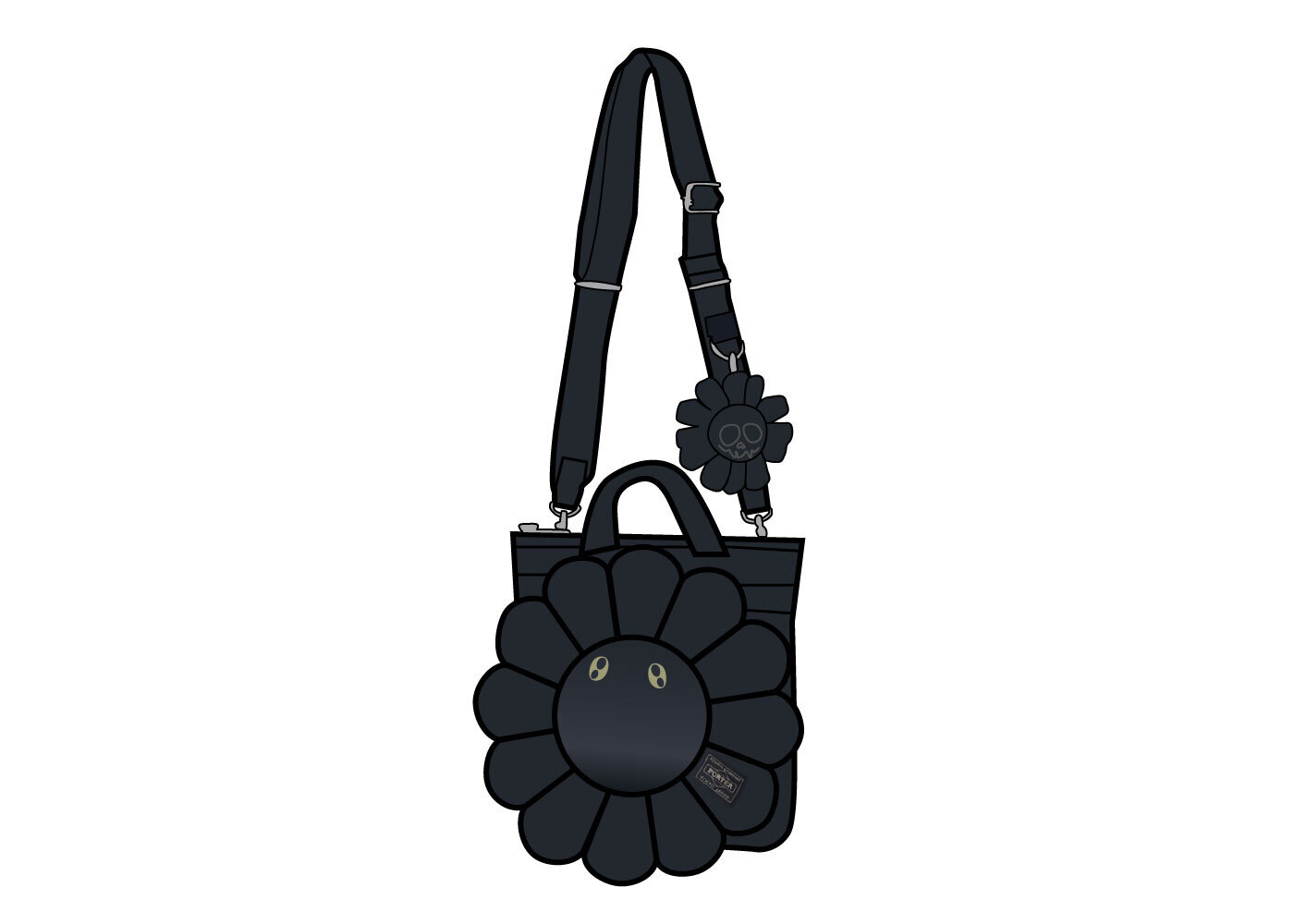 Porter × Kaikai kiki 2Way Helmet Bag Blackの写真