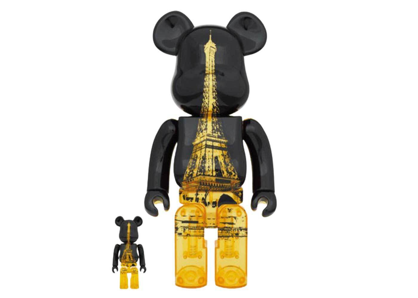 Be@rbrick Eiffel Tower Golden Gown Ver. 100% & 400%の写真