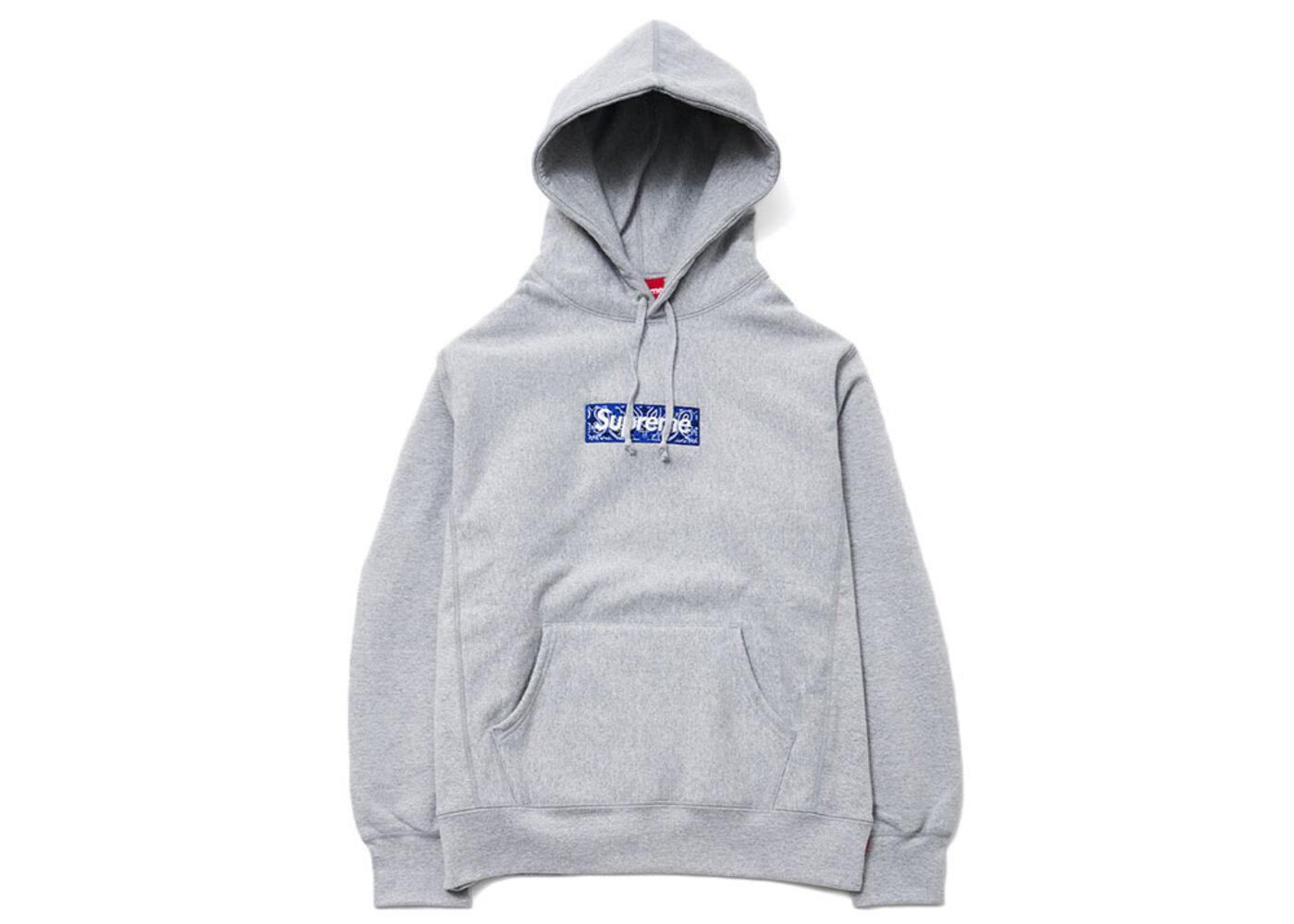 Supreme Bandana Box Logo Hooded Sweatshirt Heather Greyの写真