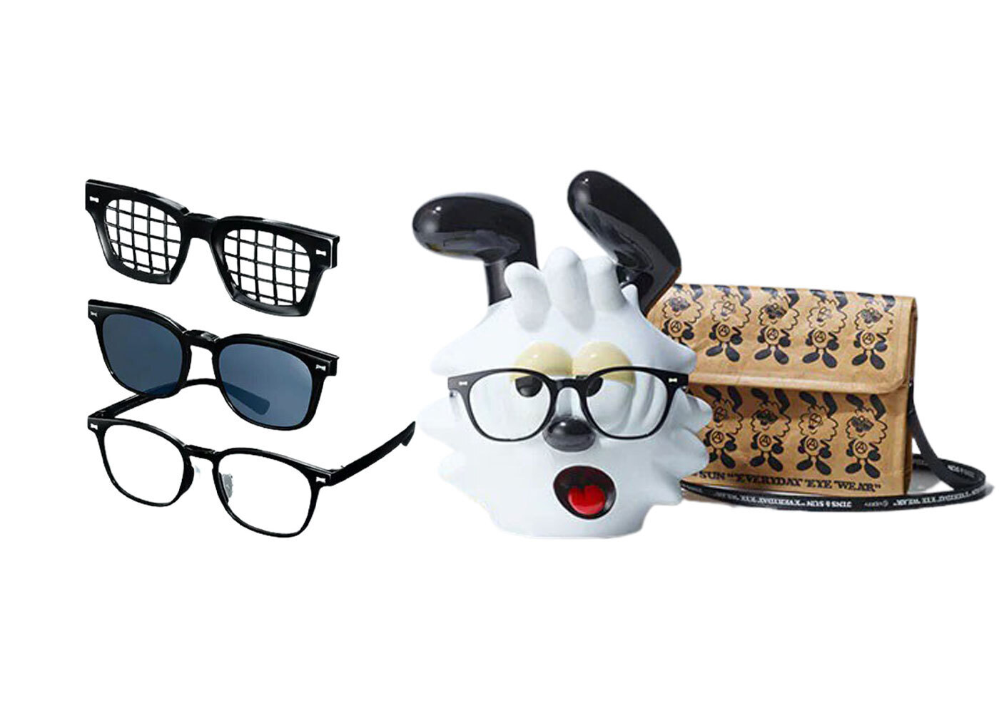JINS&SUN × Verdy Limited Eyewear Stand Set Type V Blackの写真