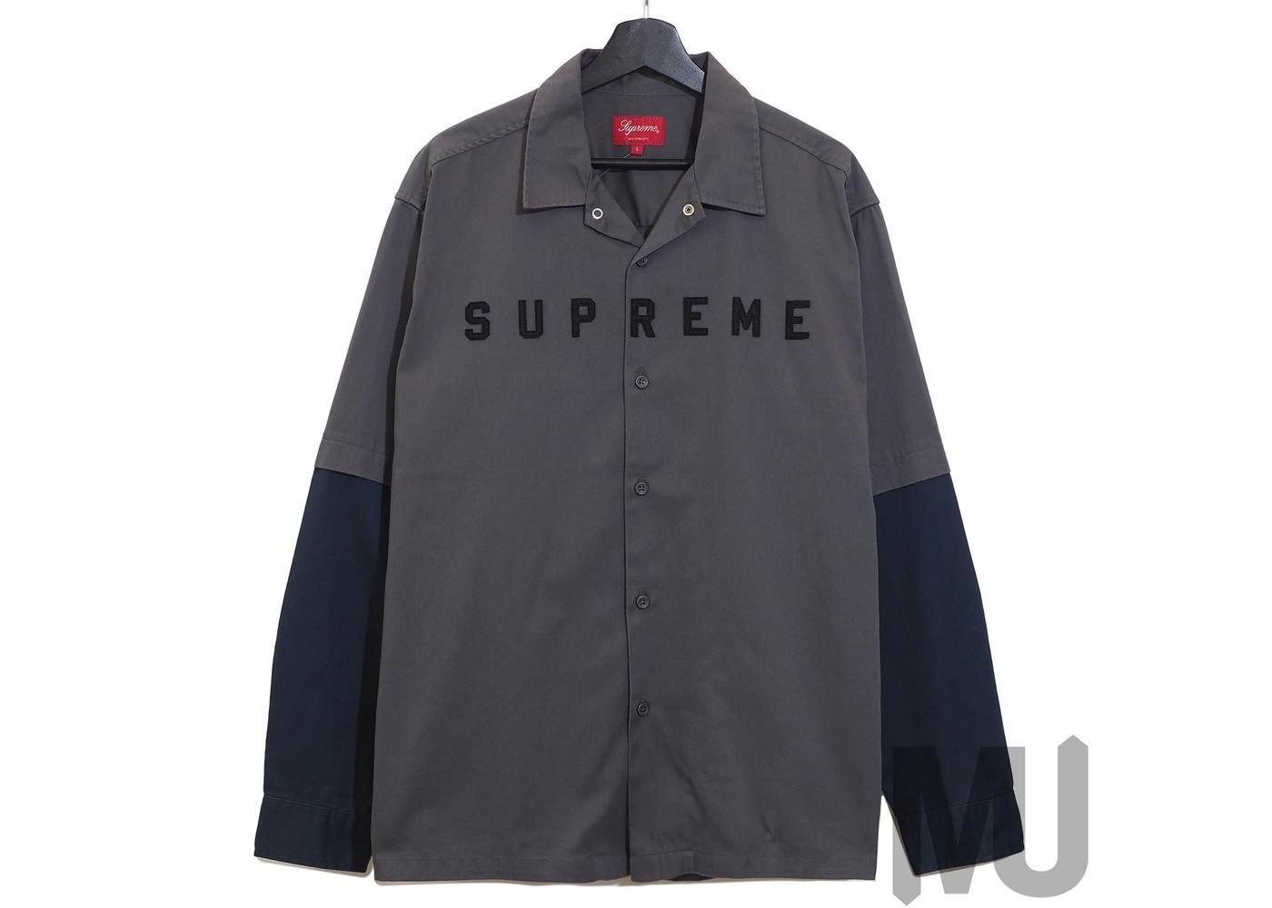 Supreme 2-Tone Work Shirt Dark Greyの写真