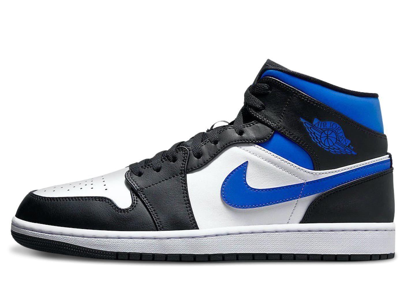 Nike Air Jordan 1 Mid White Black Royalの写真
