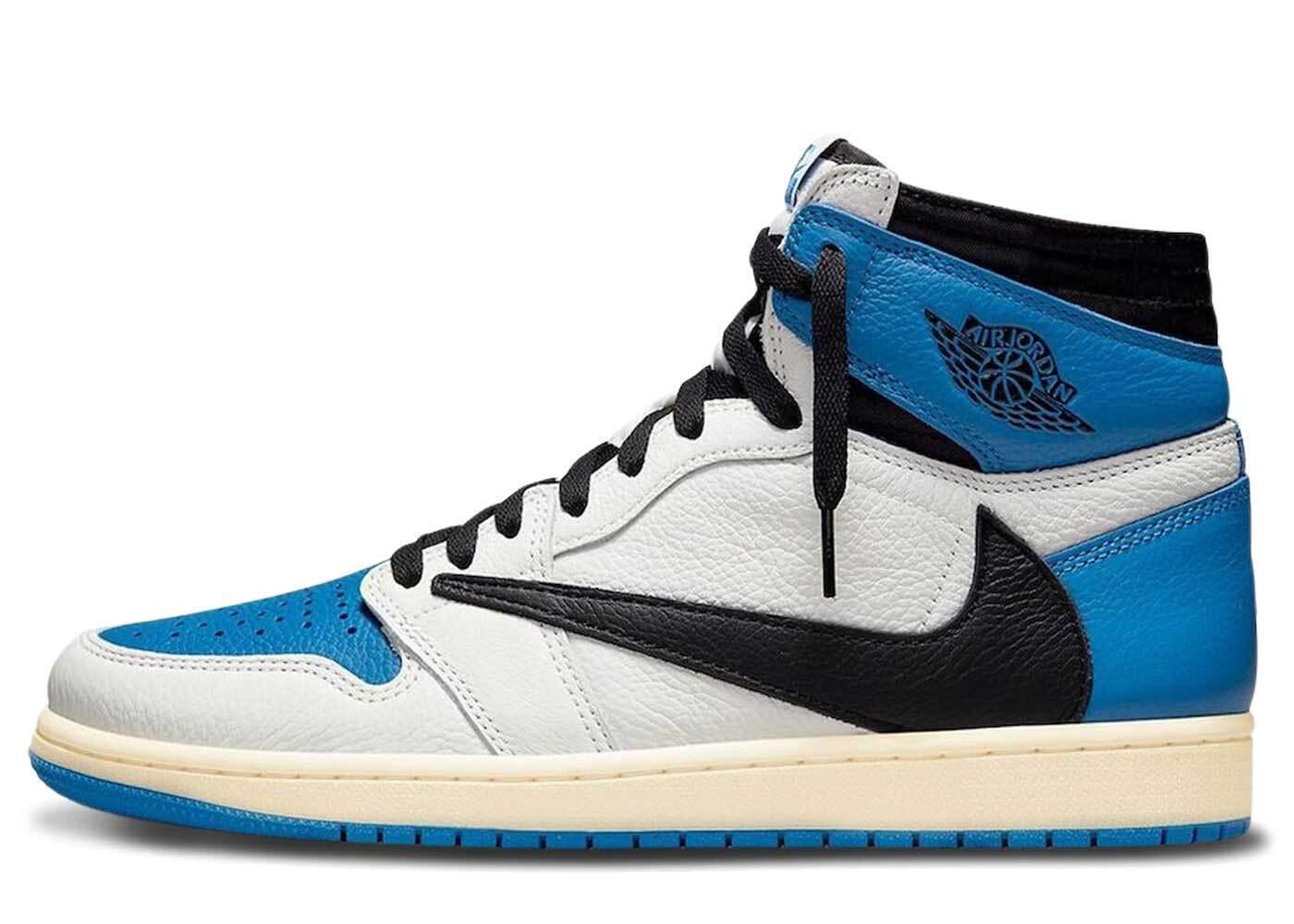 Travis Scott × Fragment × Nike Air Jordan 1 Retro High OG SP Military Blueの写真