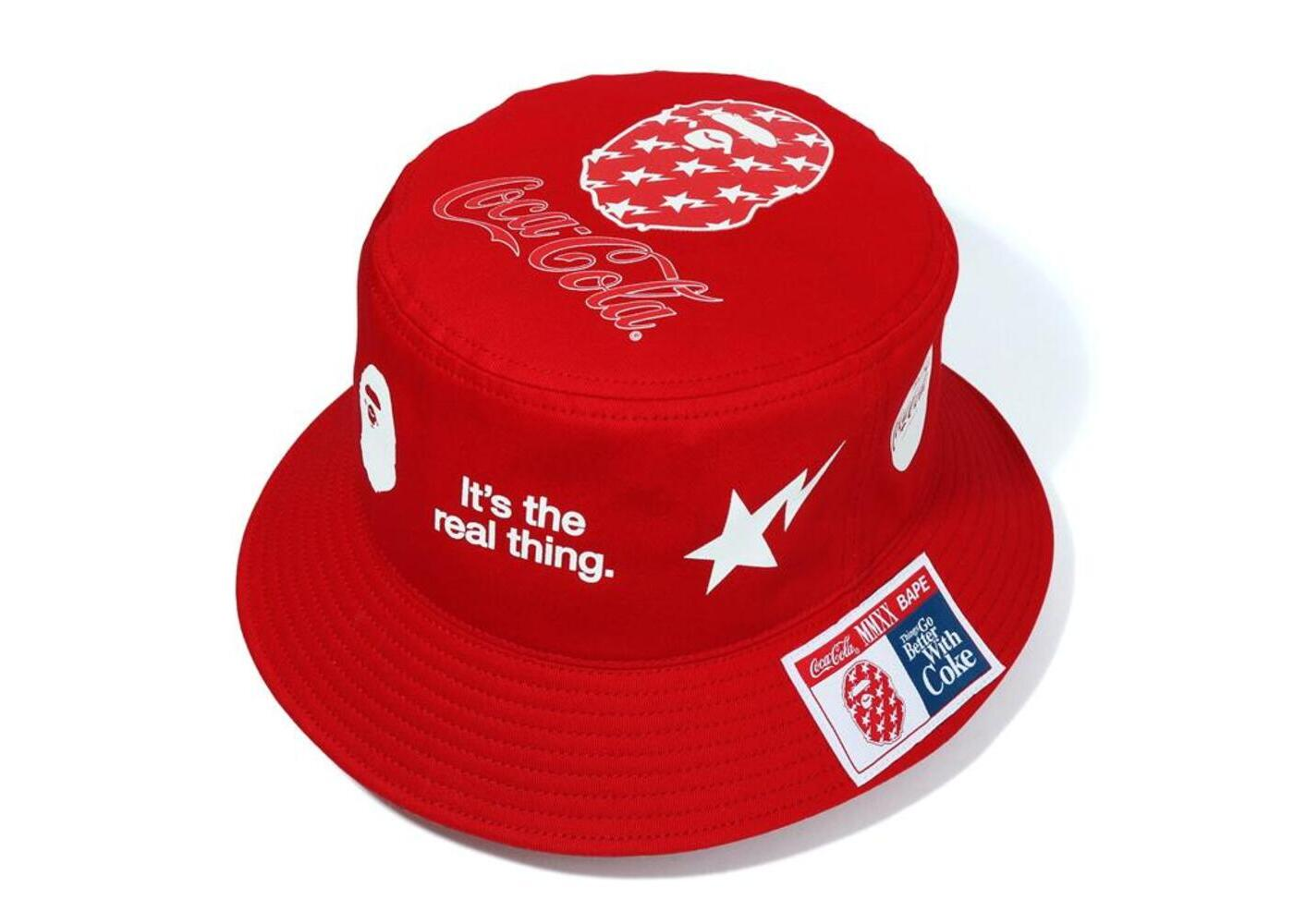 Bape x Coca Cola Bucket Hat Red (SS20)の写真