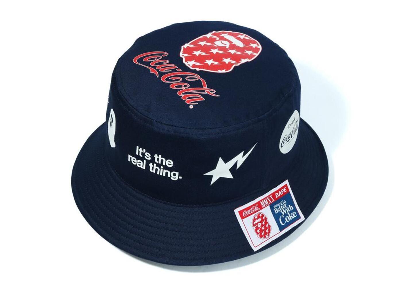 Bape x Coca Cola Bucket Hat Navy (SS20)の写真