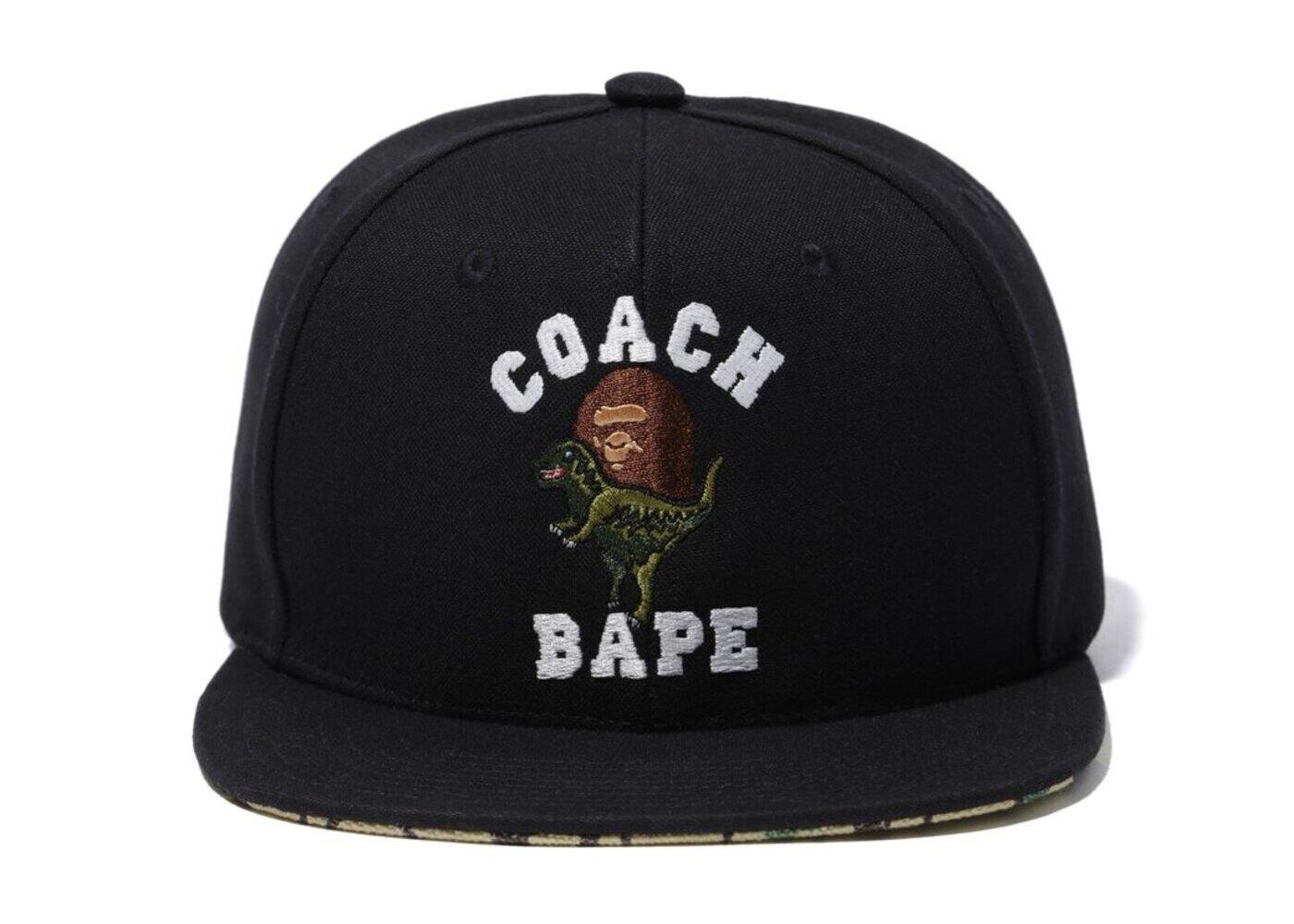 Bape x Coach Baseball Cap Black (SS20)の写真