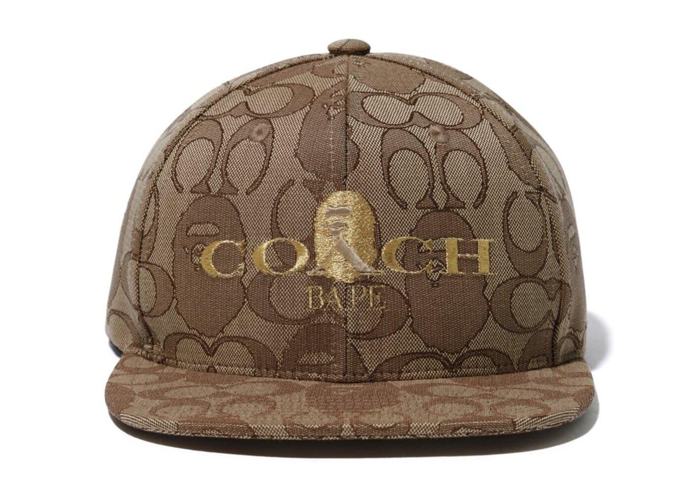 Bape x Coach Jacquard Baseball Cap Beige (SS20)の写真