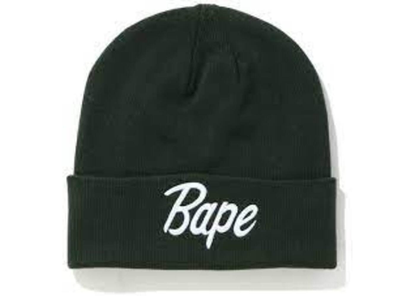Bape Script Knit Beanie Green (SS20)の写真