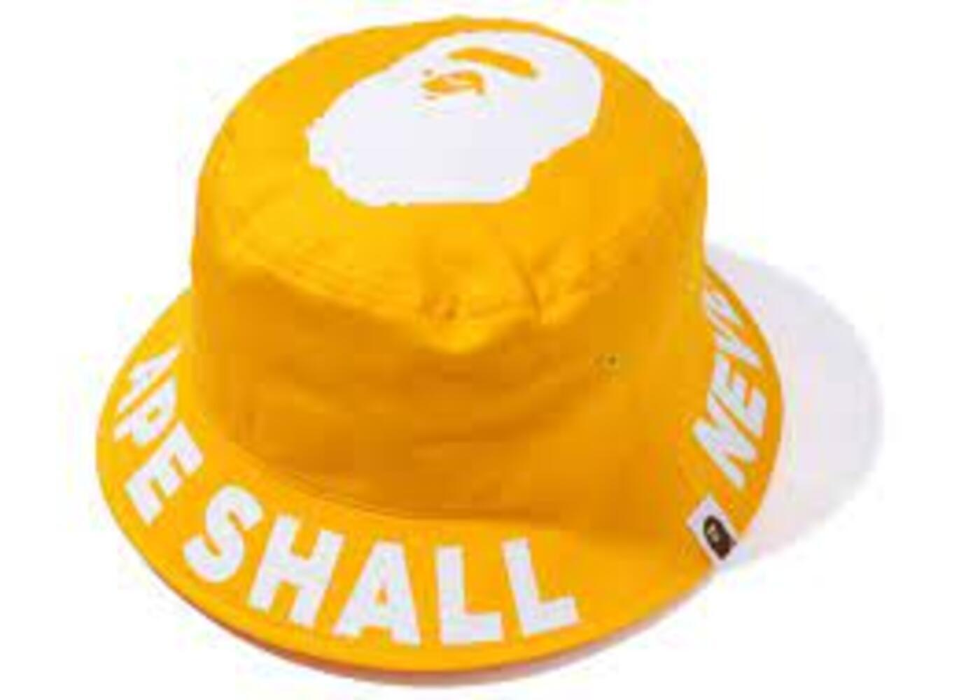 Bape ASNKA Bucket Hat Yellow (SS20)の写真