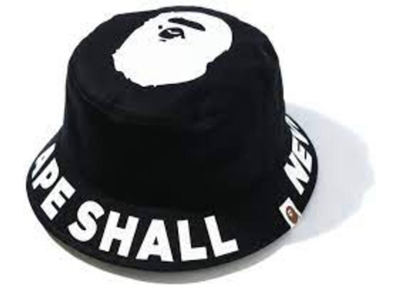 Bape ASNKA Bucket Hat Black (SS20)の写真