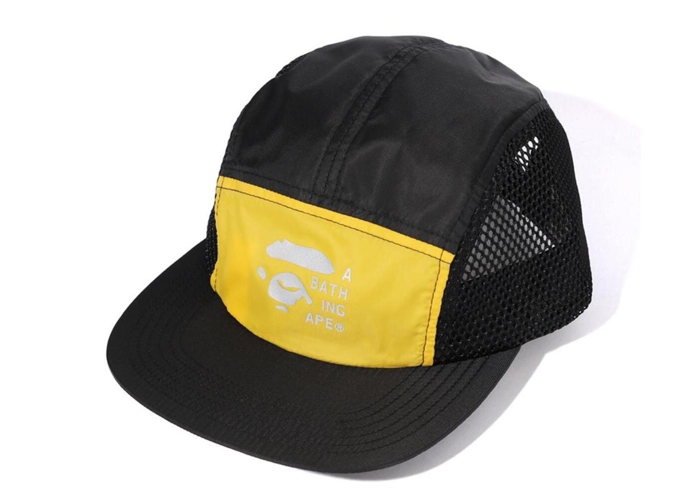 Bape 2tone Mesh Jet Cap Yellow (SS20)の写真