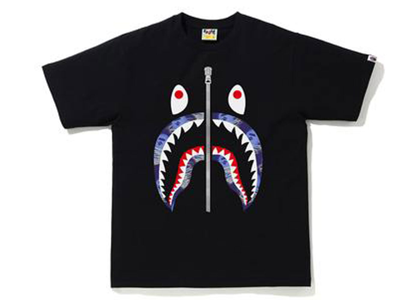 Bape Storm Shark Tee Black × Purple (SS21)の写真