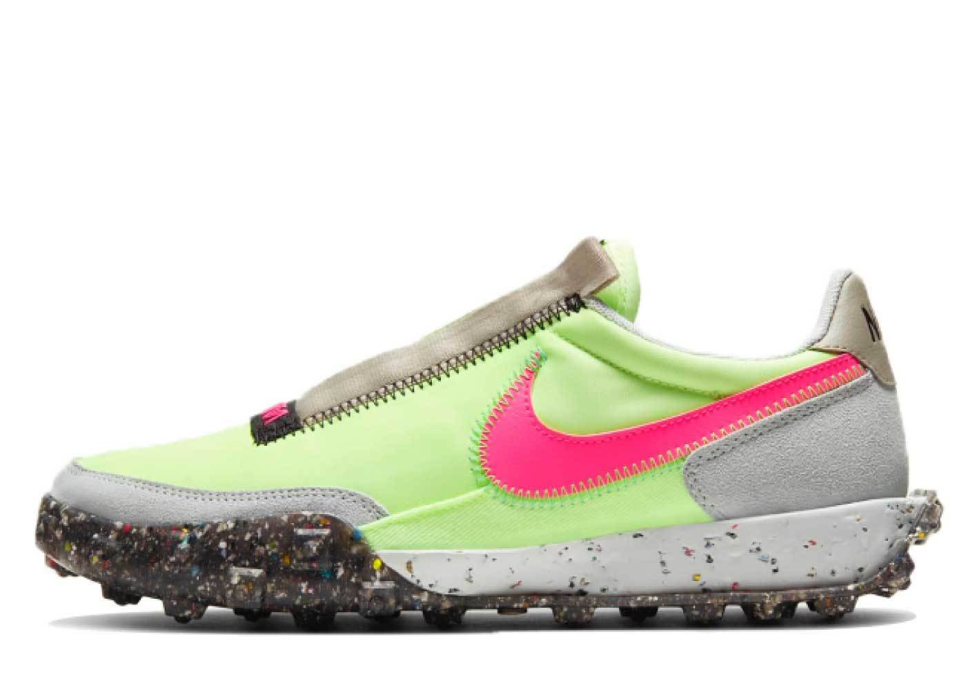 Nike Waffle Racer Crater Barely Volt Womensの写真