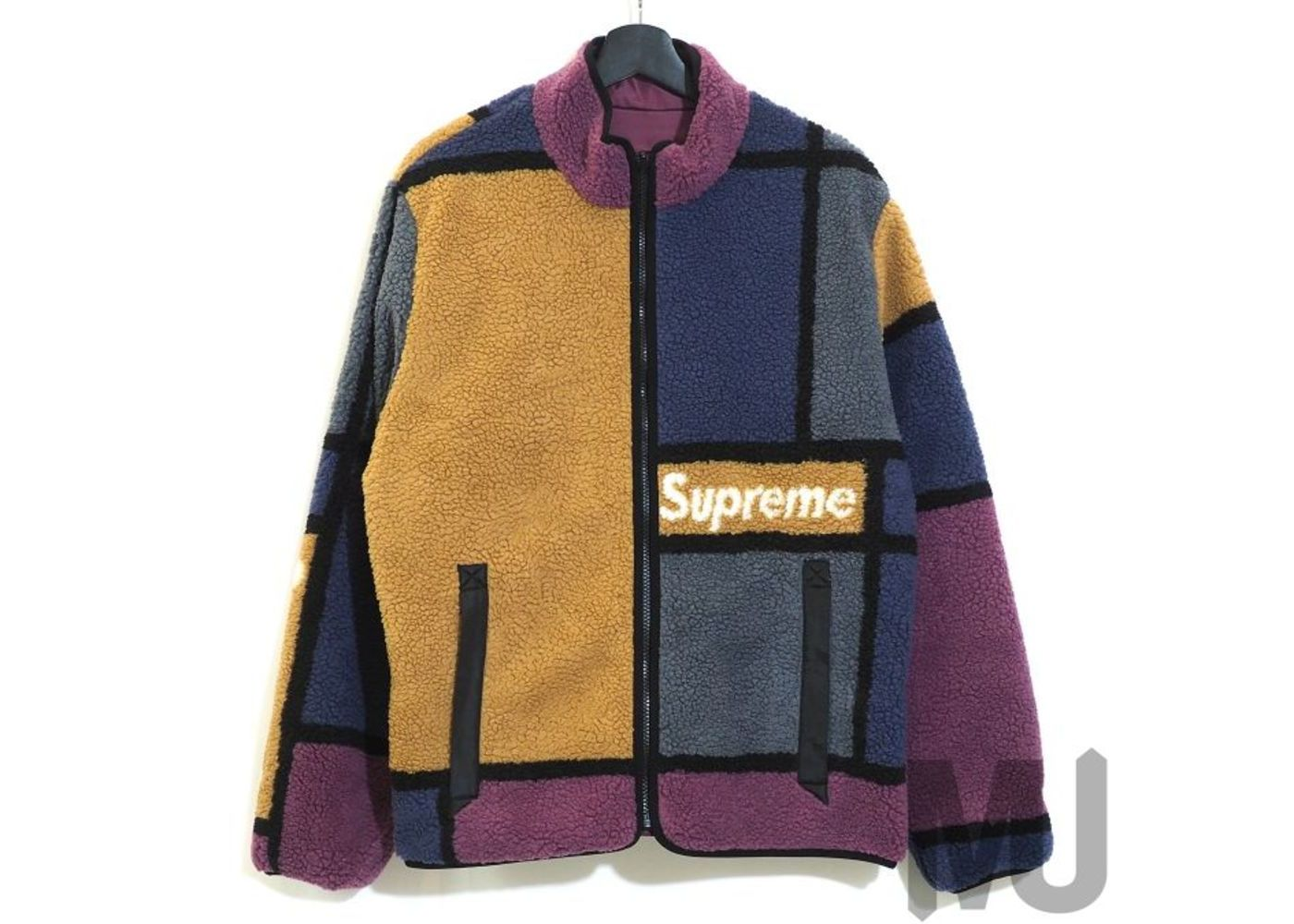 Supreme Reversible Colorblocked Fleece Jacket Purpleの写真