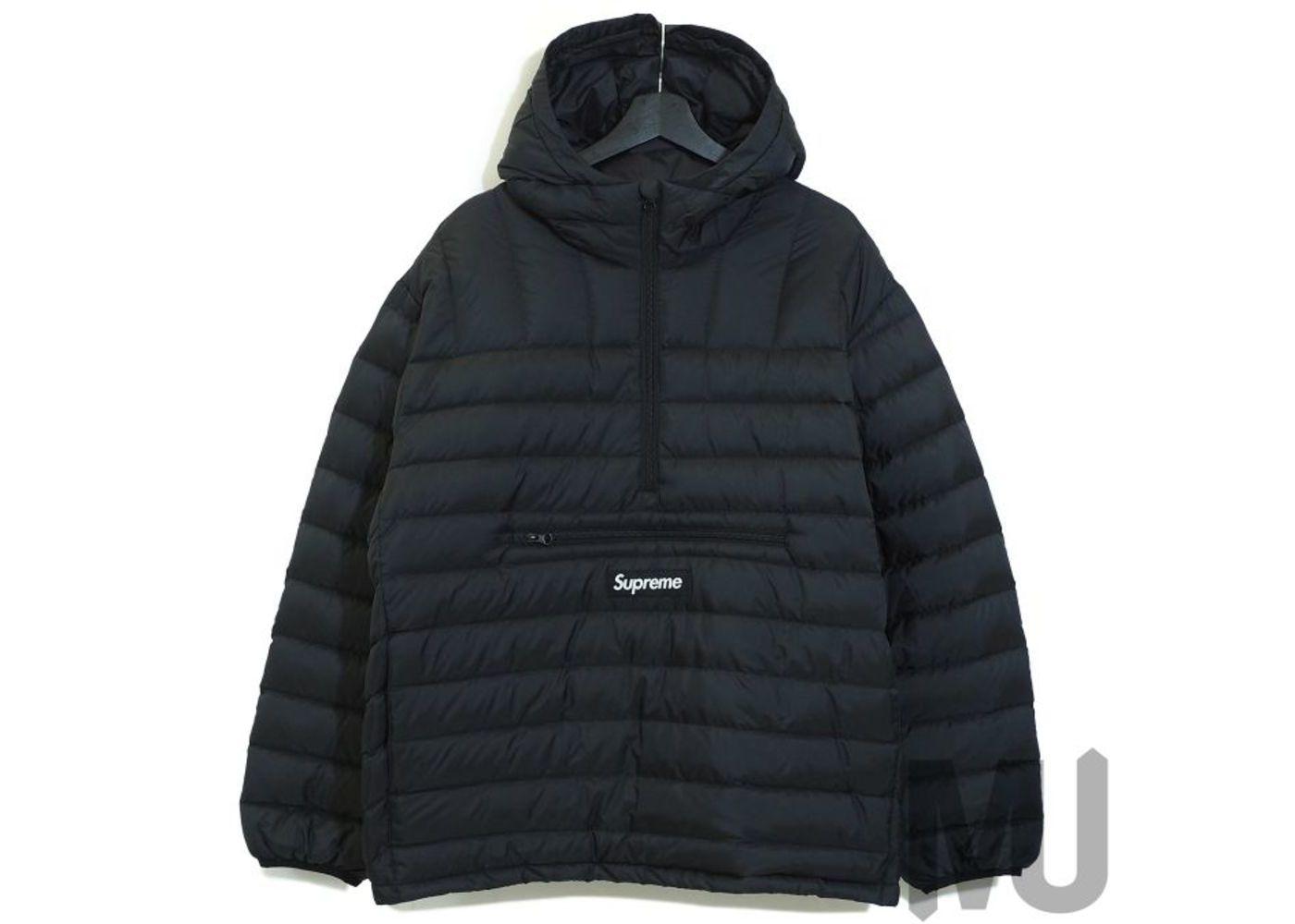 Supreme Micro Down Half Zip Hooded Pullover Blackの写真