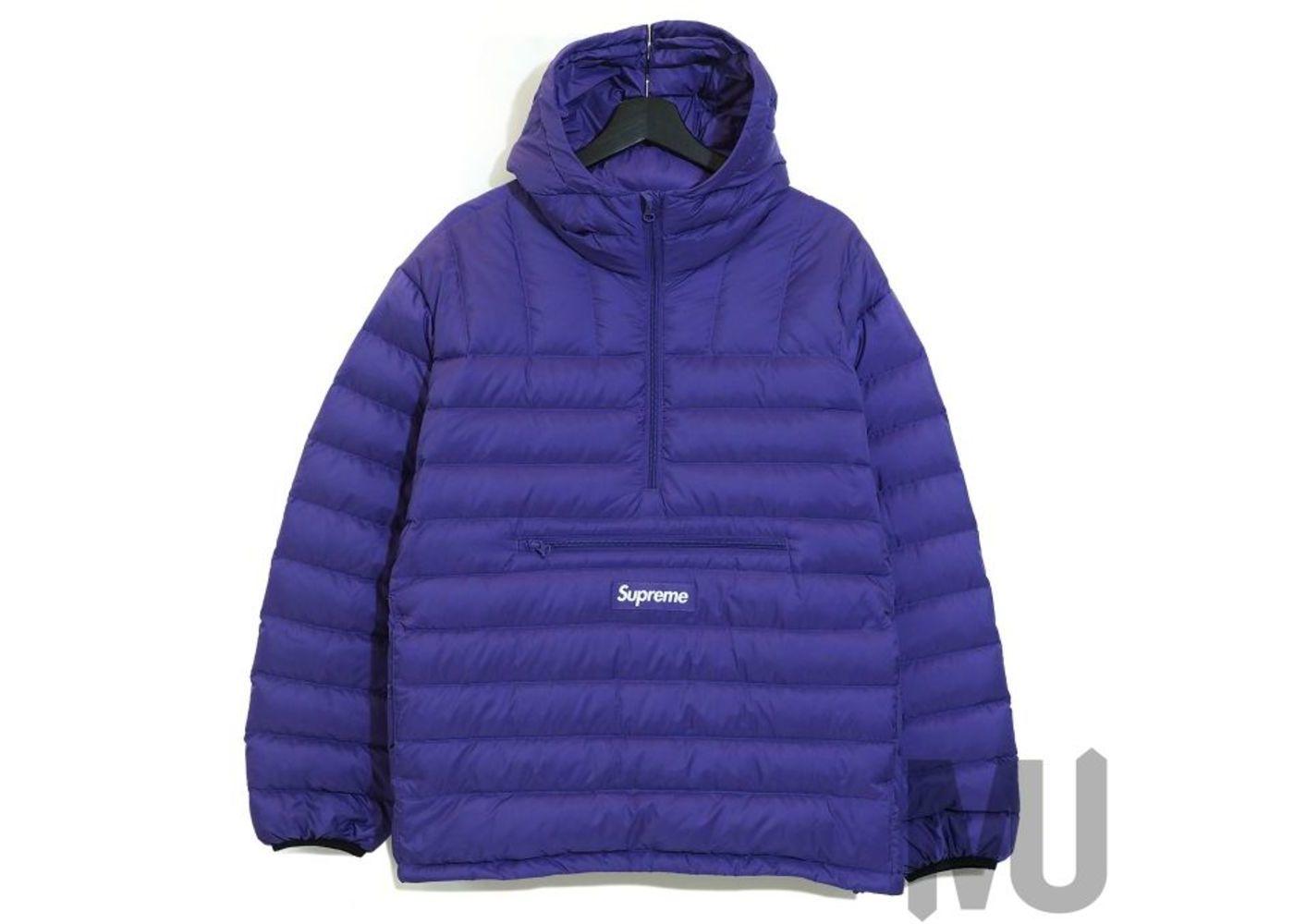 Supreme Micro Down Half Zip Hooded Pullover Purpleの写真