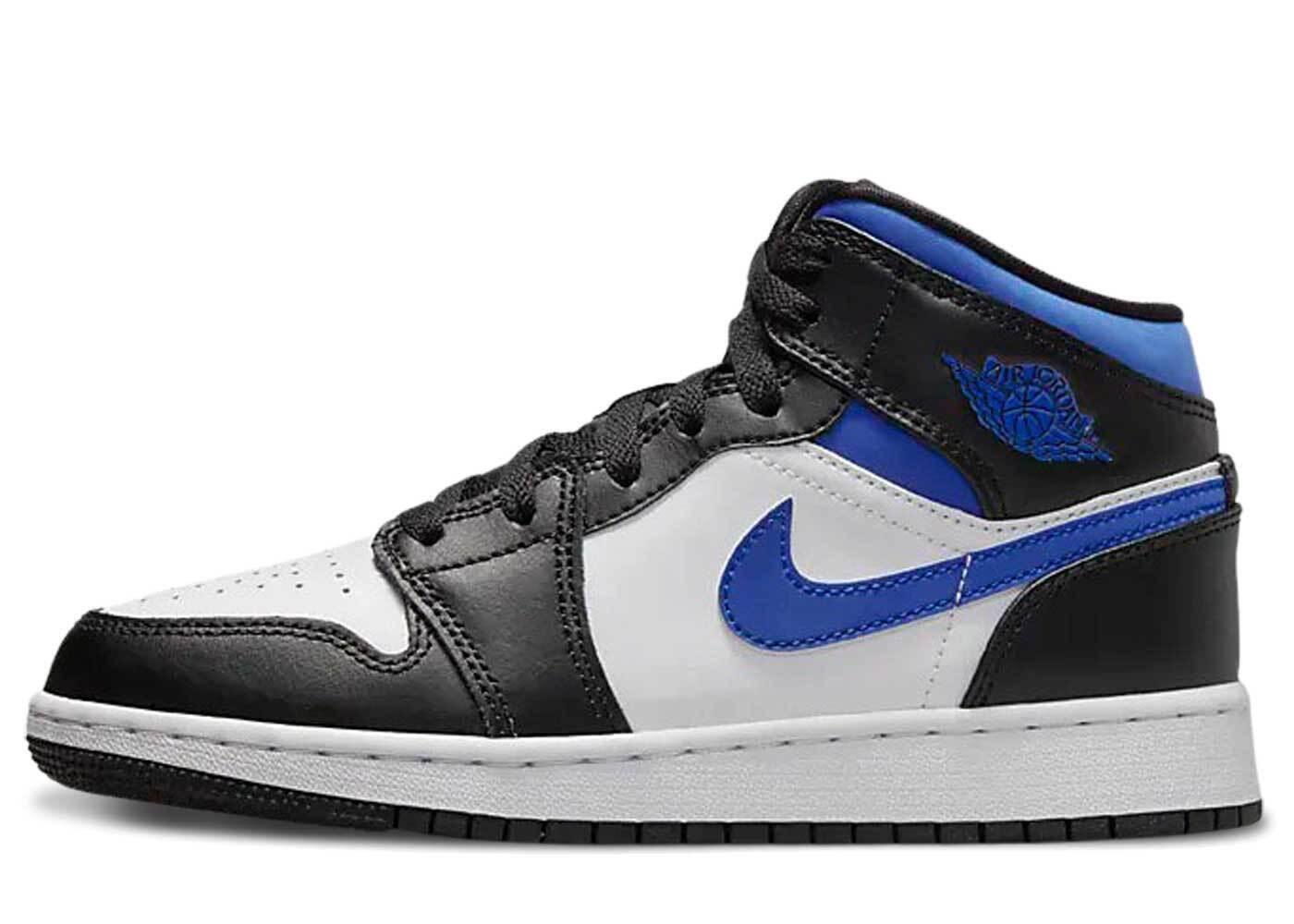 Nike Air Jordan 1 Mid White / Black / Royal GSの写真