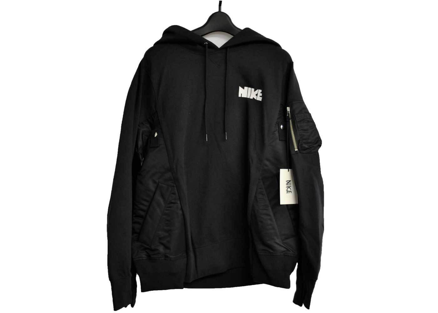 Sacai × Nike Hoodie Blackの写真
