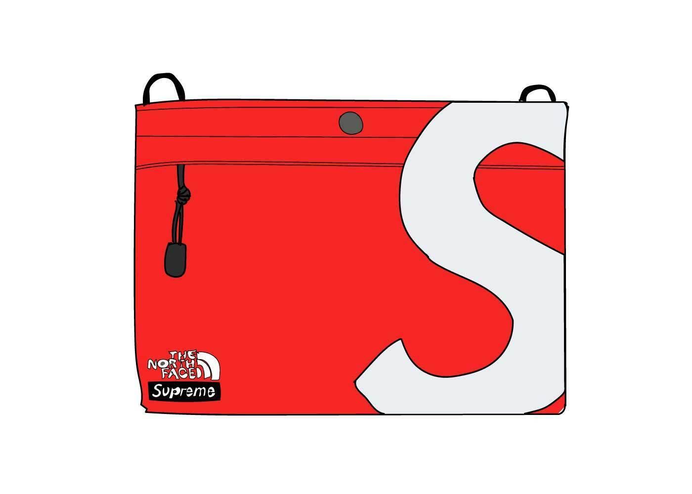 Supreme The North Face S Logo Shoulder Bag Redの写真