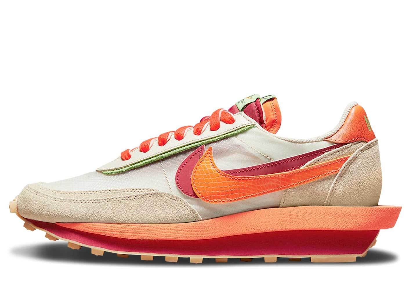 Clot × Sacai × Nike LD Waffle Orange Blazeの写真