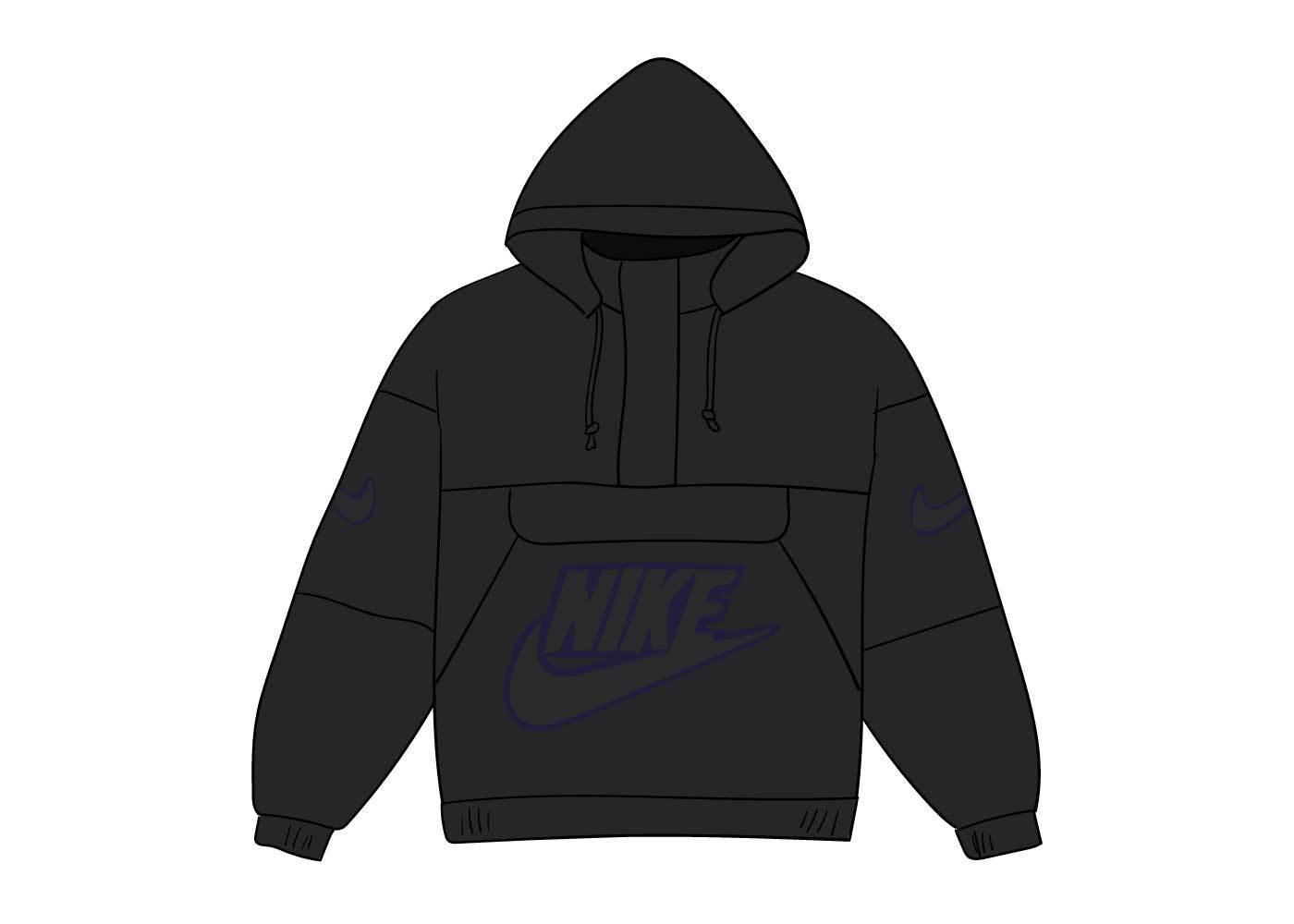 Supreme Nike Leather Anorak Blackの写真