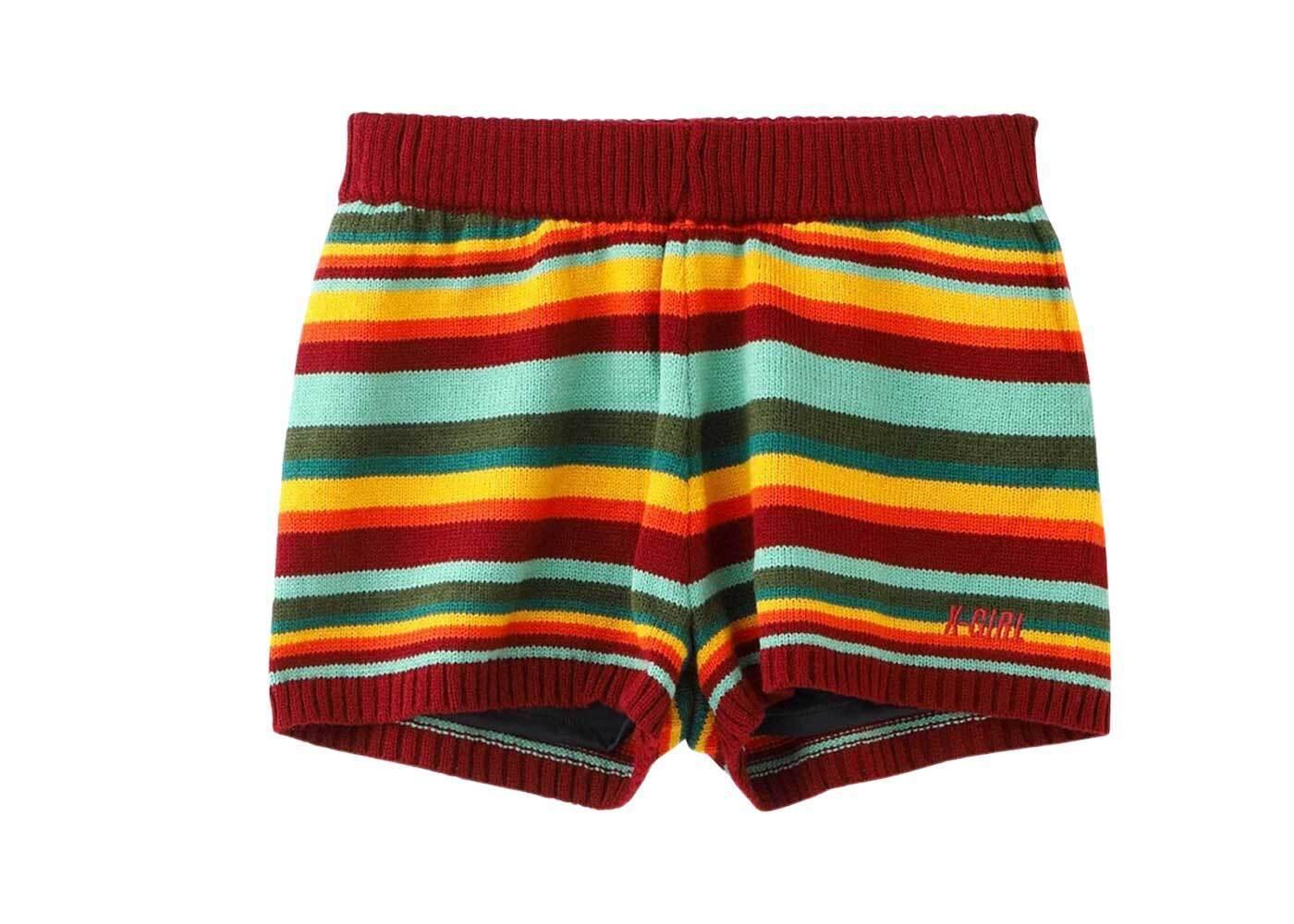 X-girl Knit Short Pants Multiの写真
