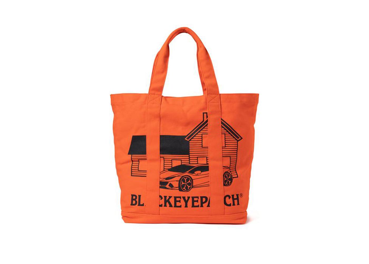 The Black Eye Patch Second House Tote Bag Orange (FW21)の写真