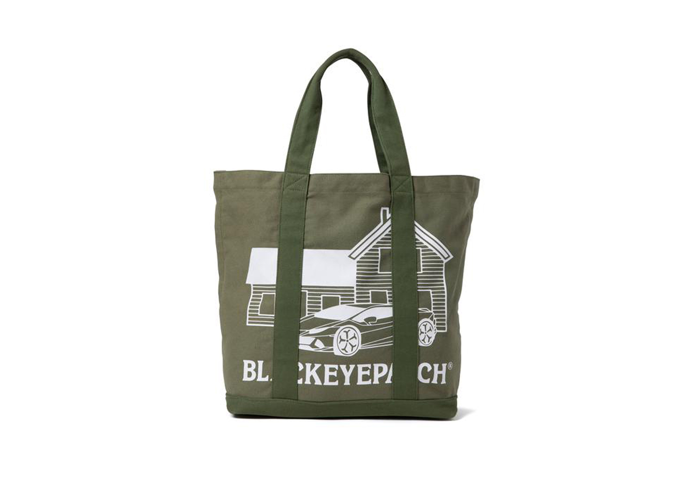 The Black Eye Patch Second House Tote Bag Olive (FW21)の写真