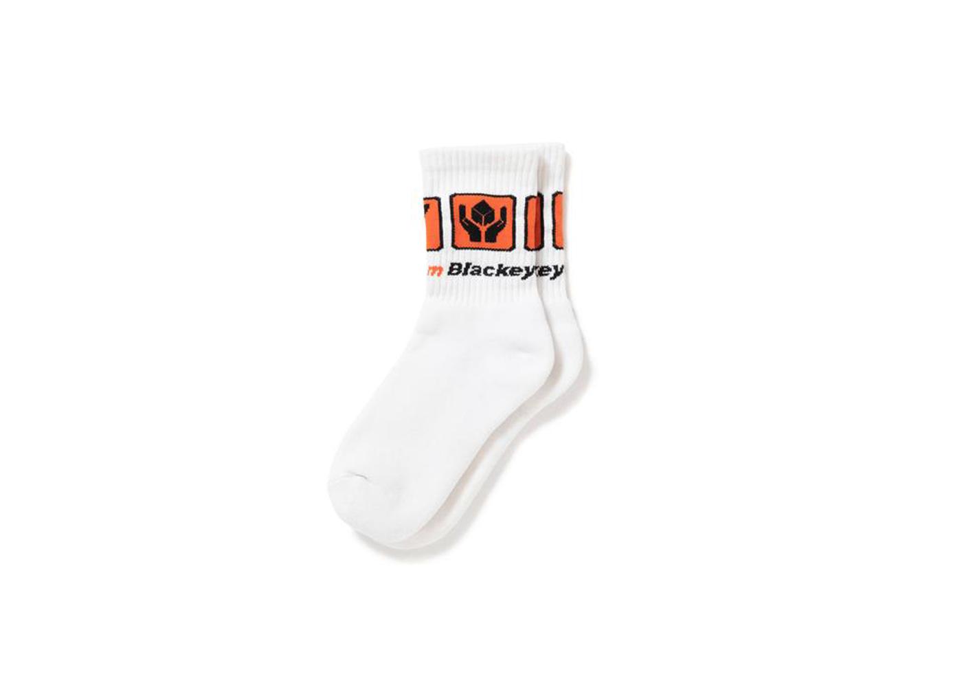 The Black Eye Patch Dotcom Socks White (FW21)の写真