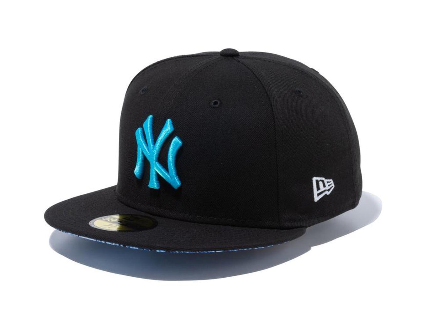 New Era 59FIFTY Summer Pop New York Yankees Snake Under Visor Blackの写真