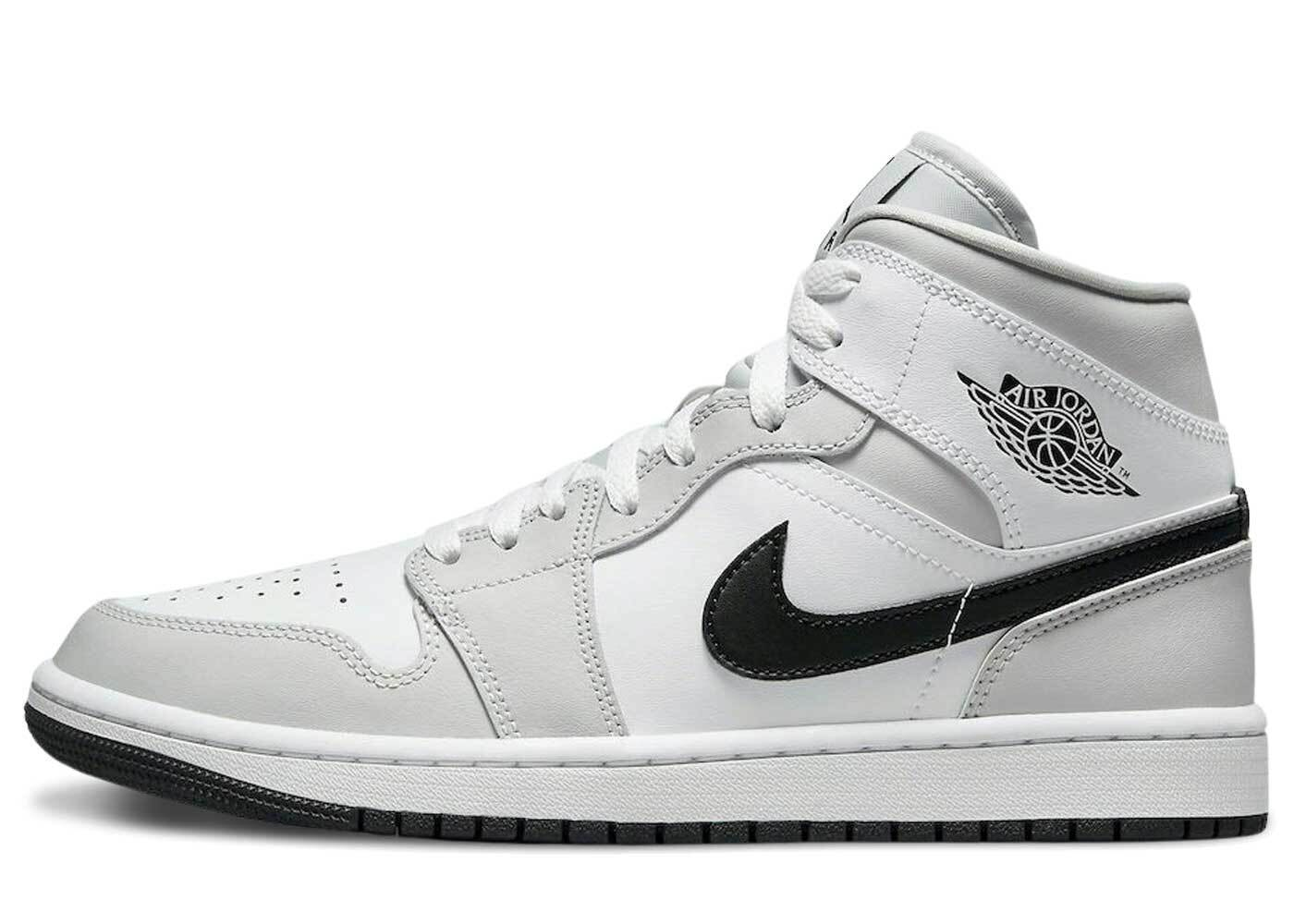Nike Air Jordan 1 Mid White Gray Womensの写真
