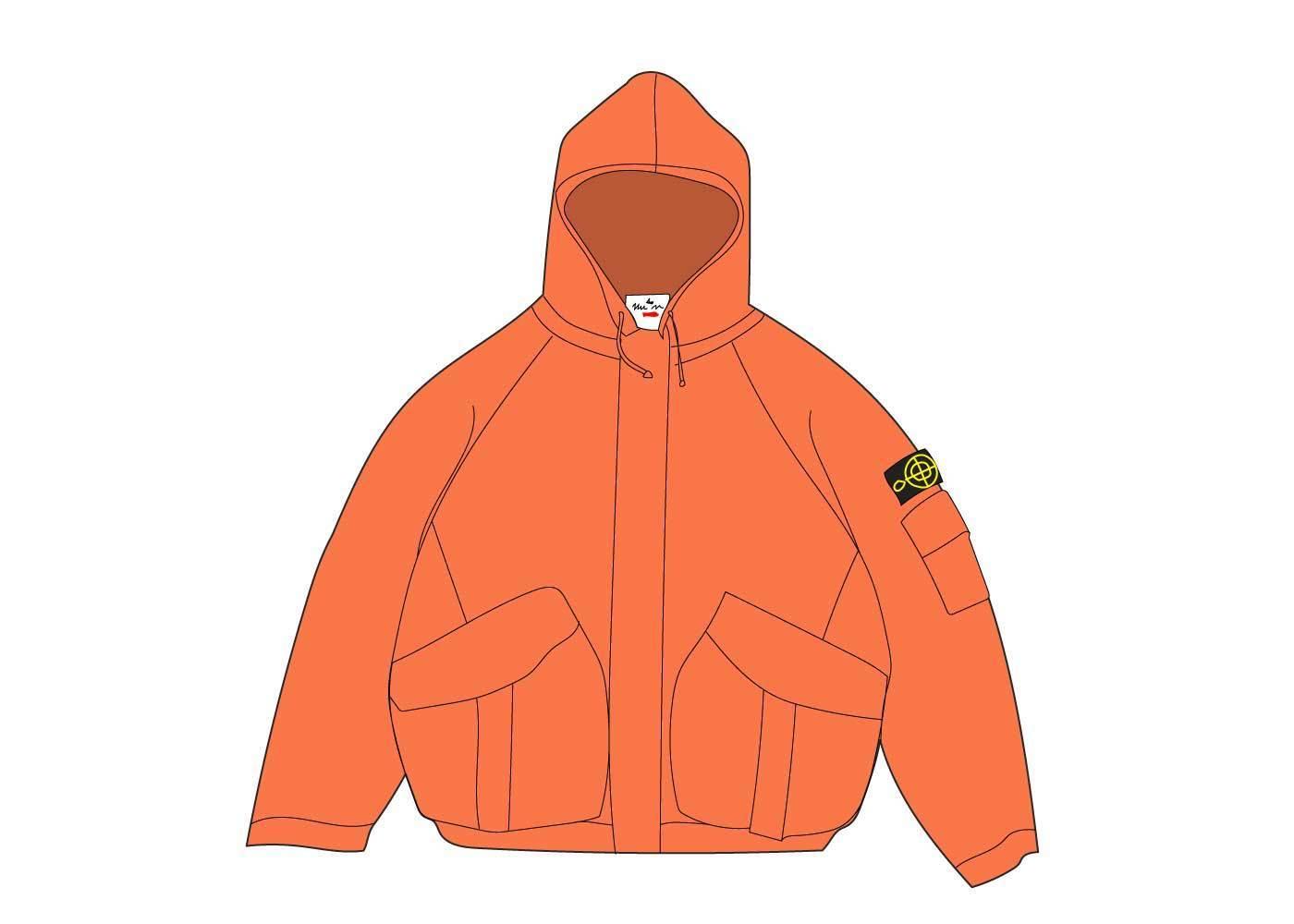 Supreme Stone Island Corduroy Jacket Orangeの写真