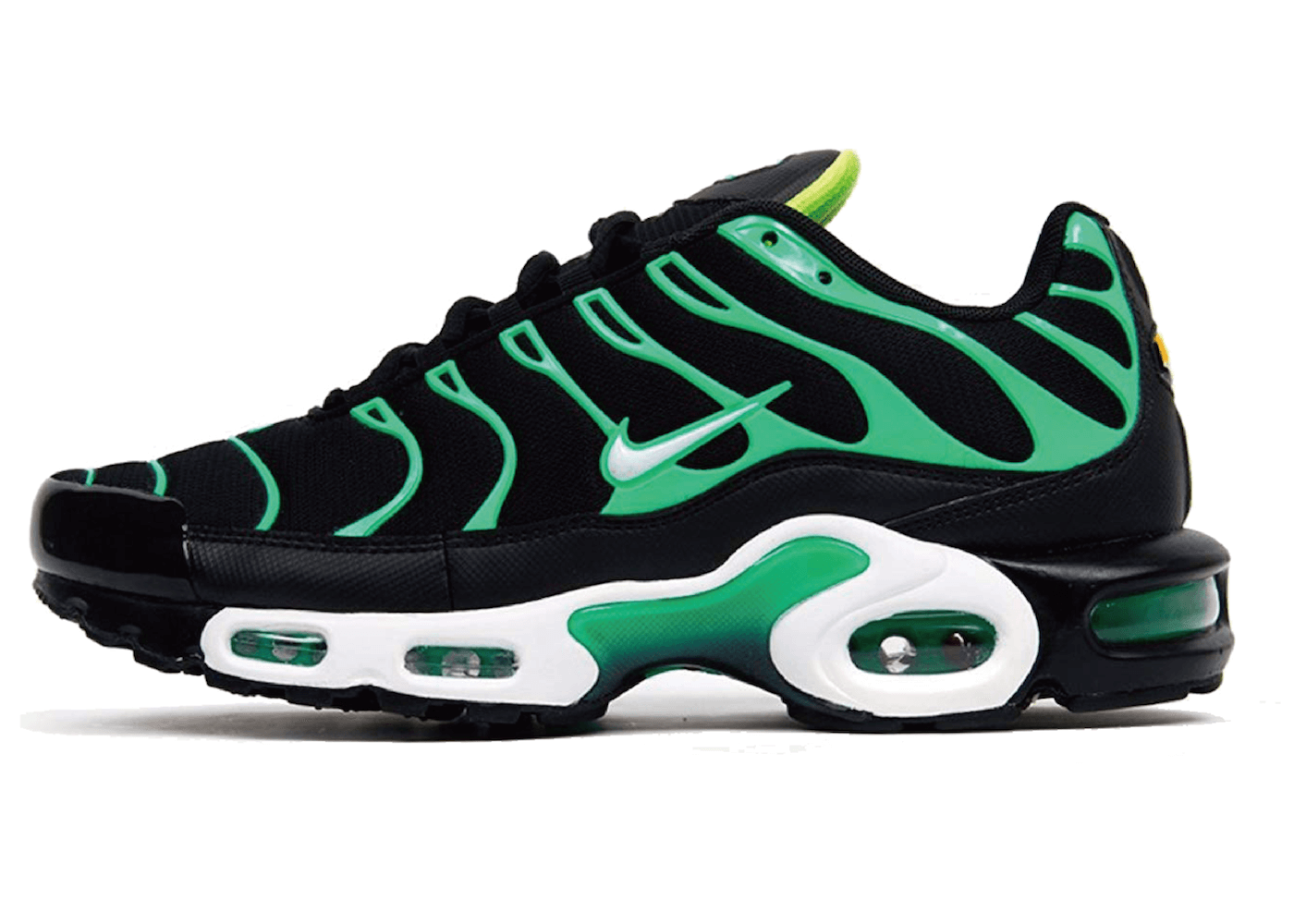 Air Max Plus Black Electric Greenの写真
