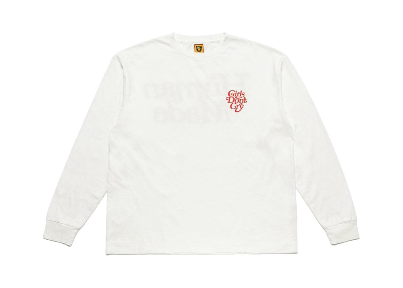 Girls Don't Cry × Human Made L/S Tee Whiteの写真