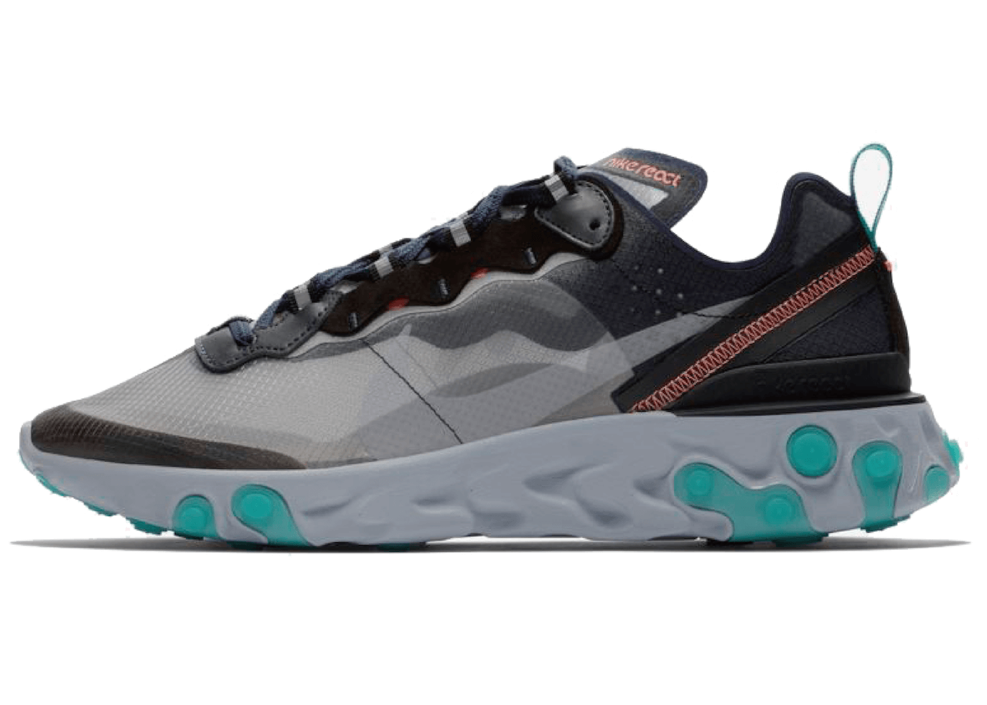 Nike React Element 87 Black Neptune Greenの写真