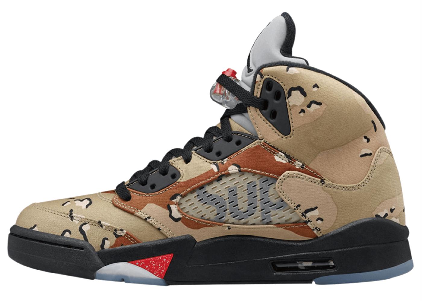 Nike Air Jordan 5 Retro Supreme Desert Camoの写真