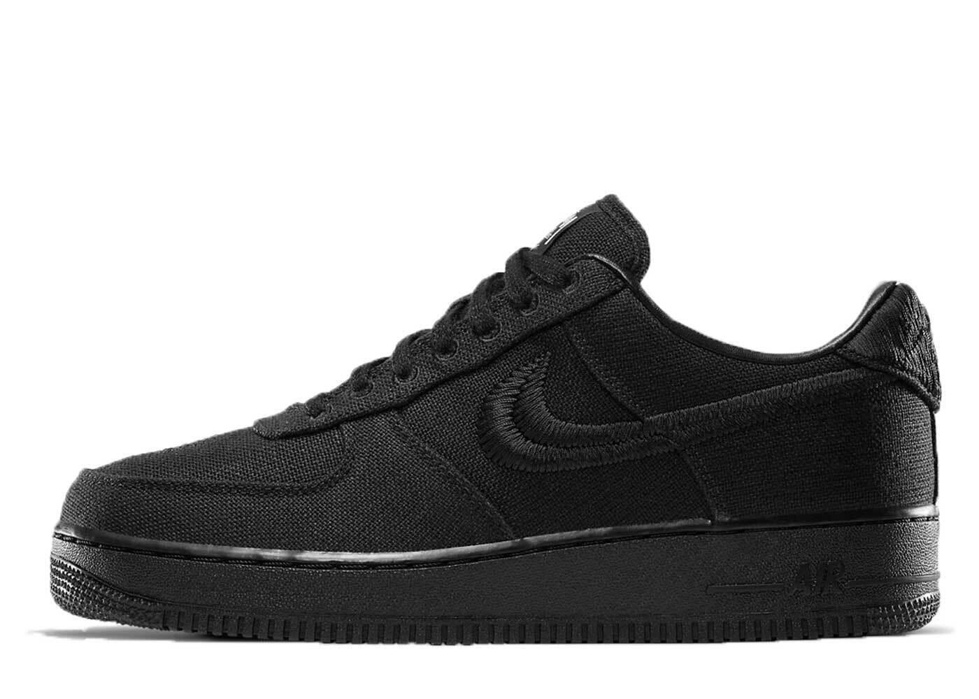 Stussy × Nike Air Force 1 Low Blackの写真