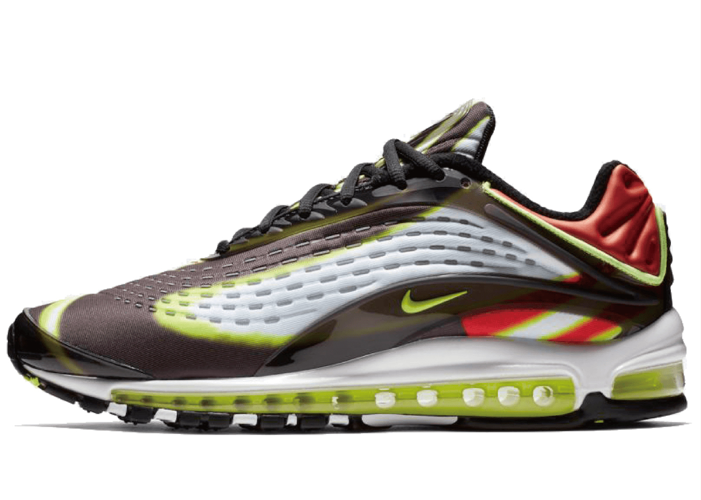 Air Max Deluxe Black Volt Habanero Redの写真