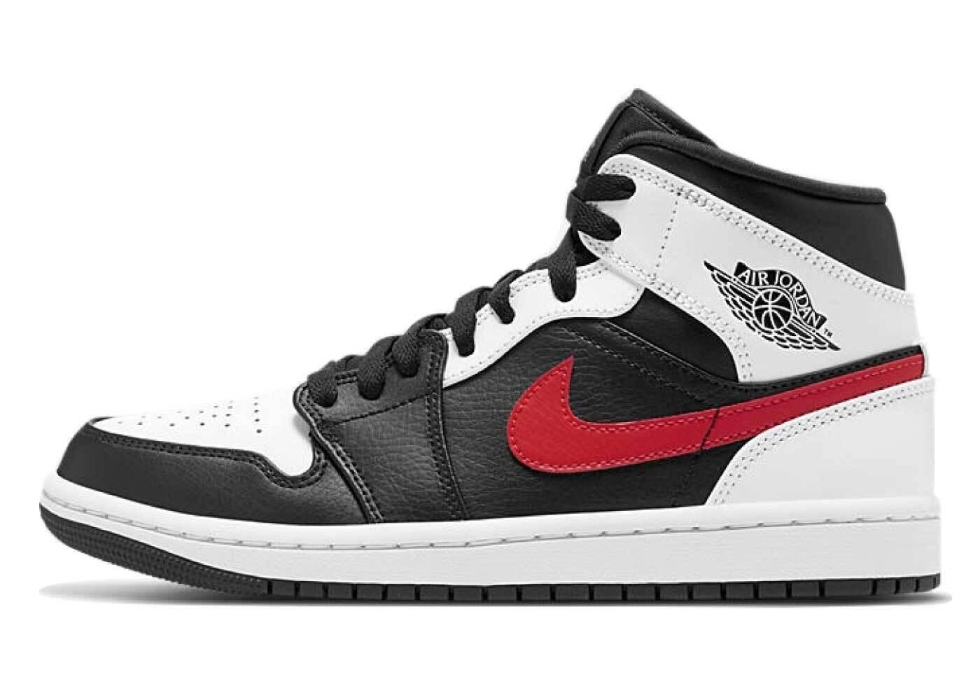 Nike Air Jordan 1 Mid Black Chile Red Whiteの写真