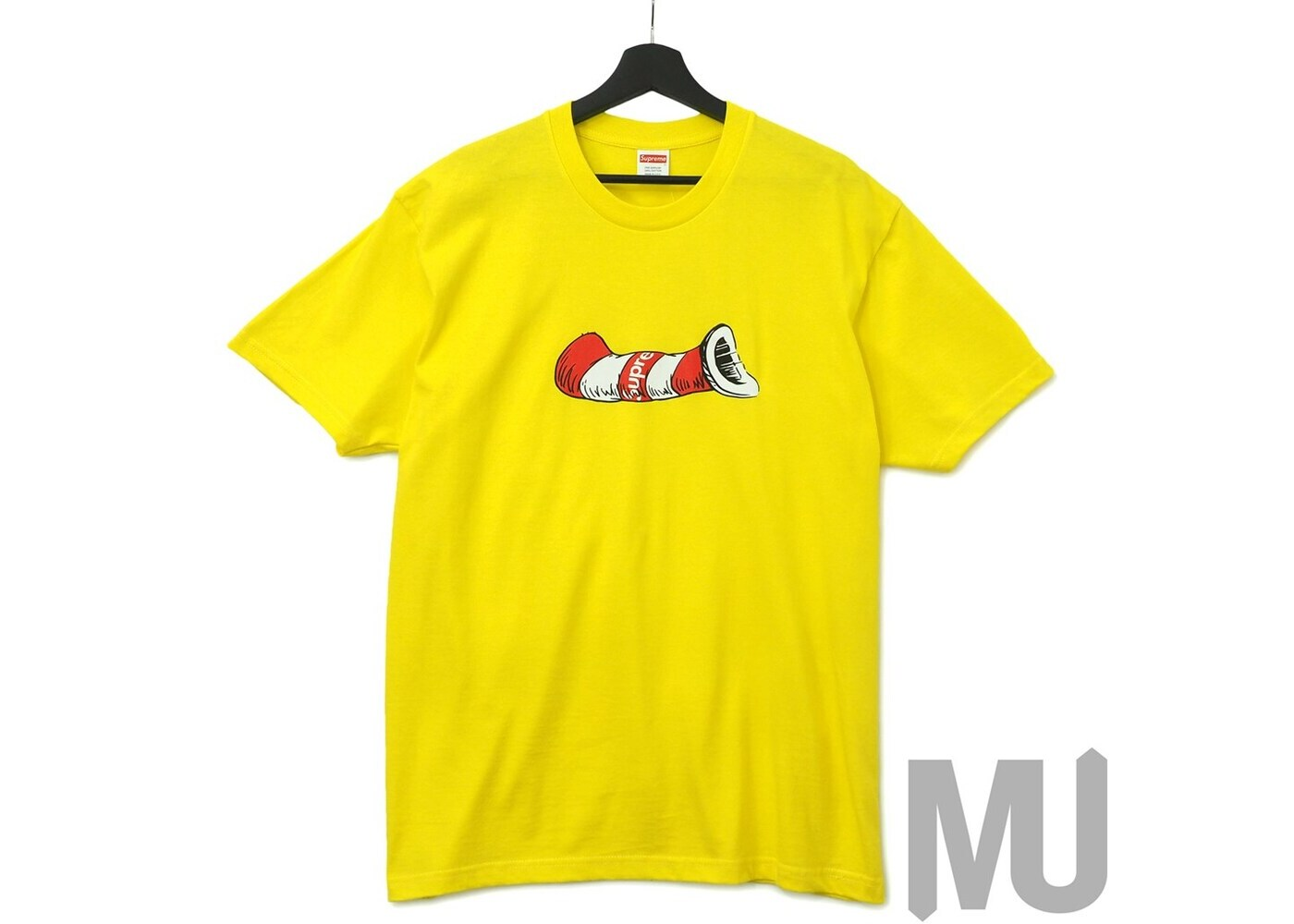 Supreme Cat in the Hat Tee Yellowの写真