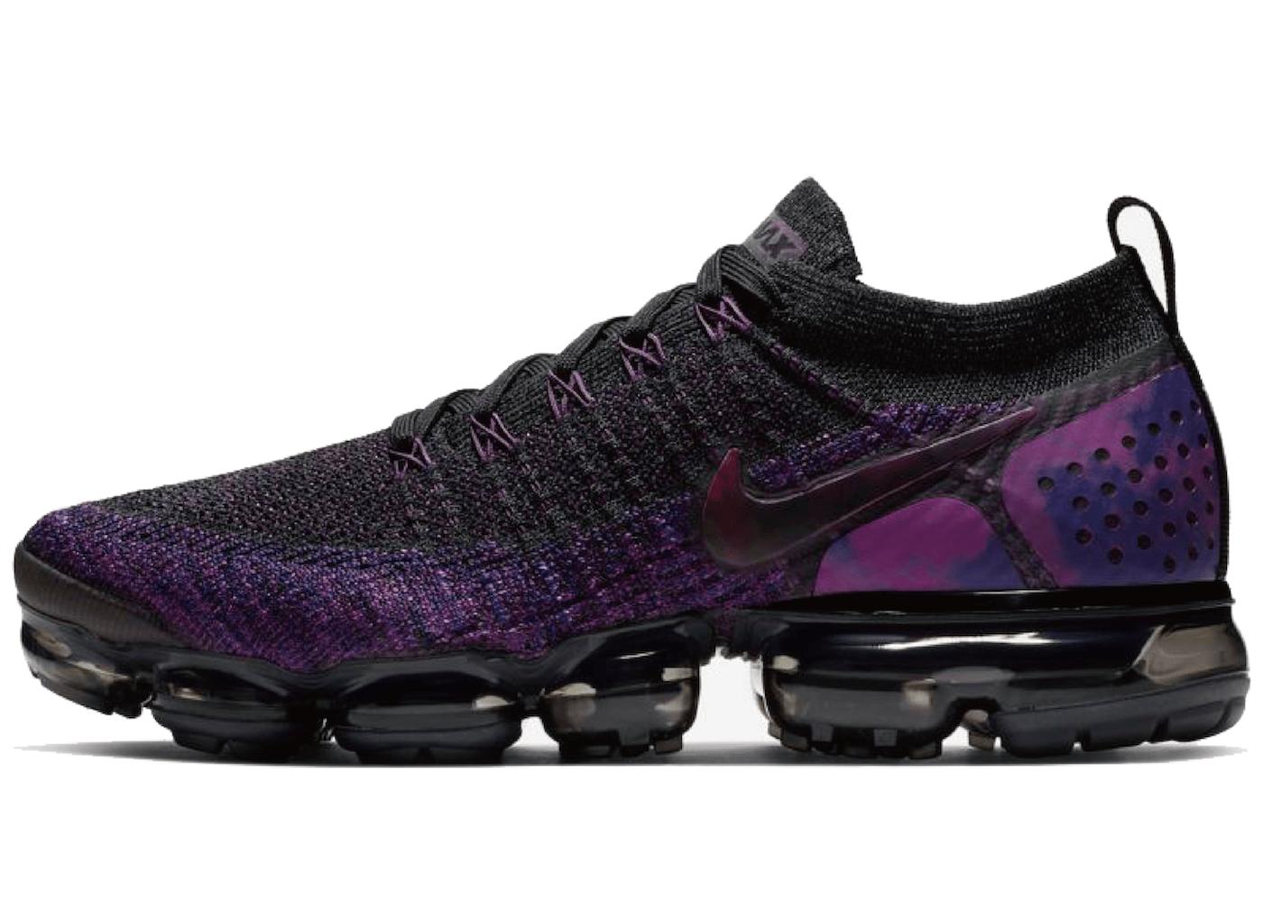 Nike Air Vapormax Flyknit 2 Black Vivid Purple の写真