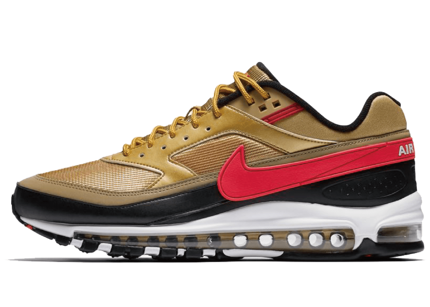 Nike Air Max 97 BW Metallic Gold University Red Blackの写真