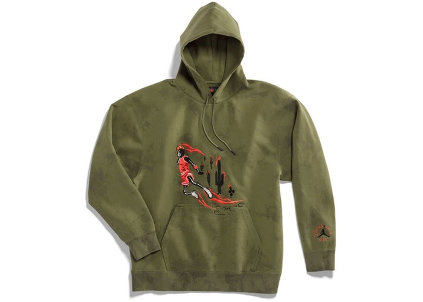 Travis Scott × Nike Jordan Washed Suede Hoodie Oliveの写真