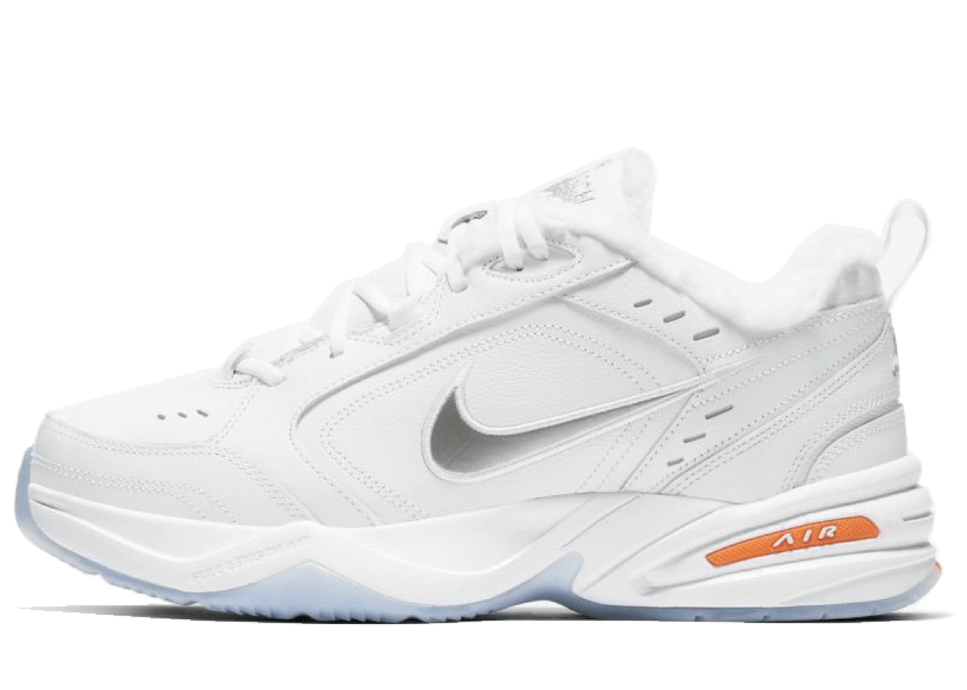 Nike Air Monarch 4 White Total Orange Metallic Silverの写真
