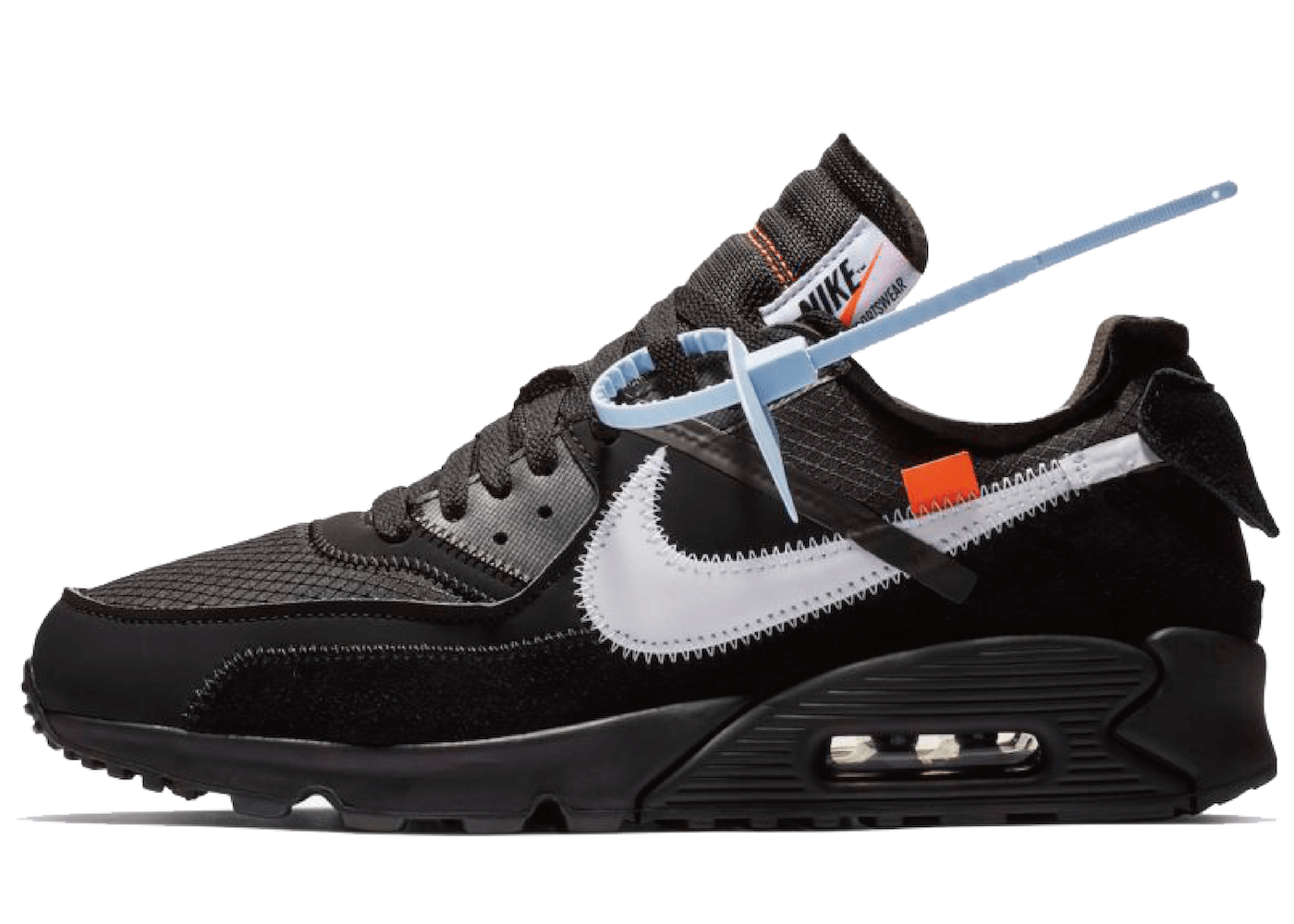 the latest 84902 39436 Off White × Nike Air Max 90 Black
