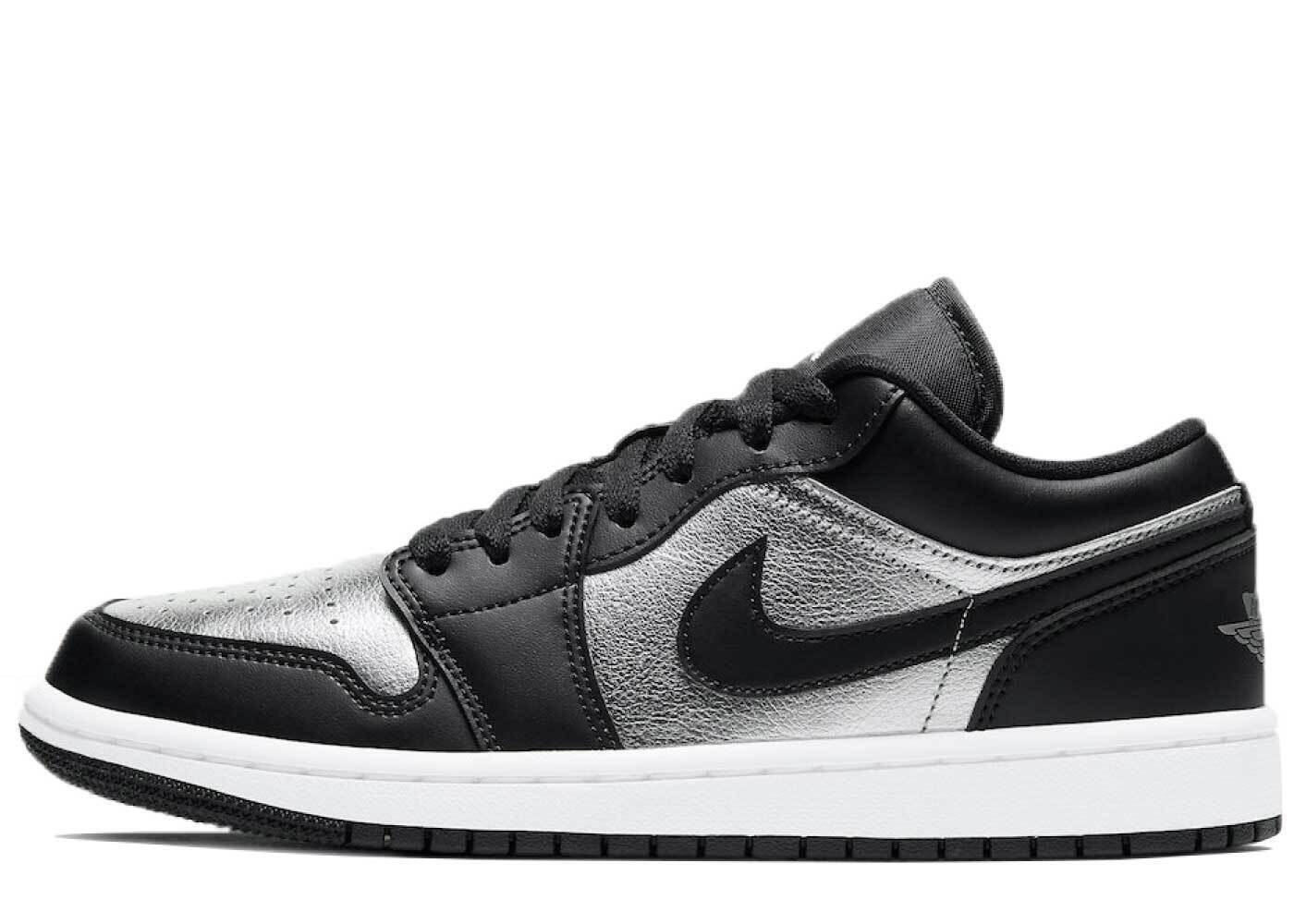 Nike Air Jordan 1 Low SE Black Metallic Silver Womensの写真