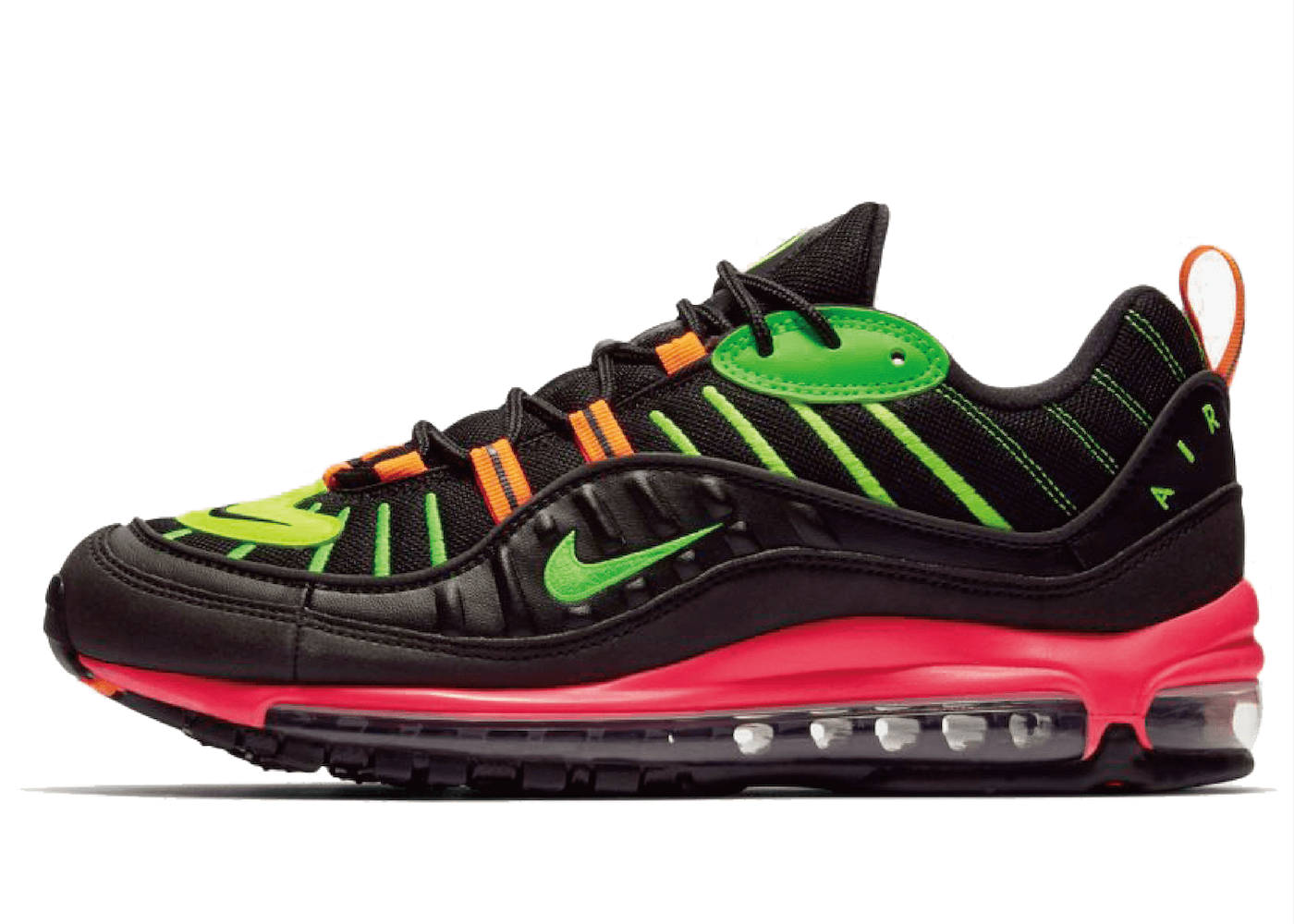 Nike Air Max 98 Neon Black Hyper Crimson Green Strikeの写真